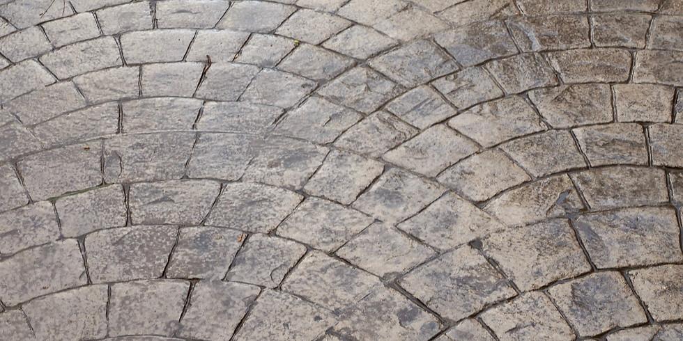 Печатный бетон: создание въездных зон и тротуаров