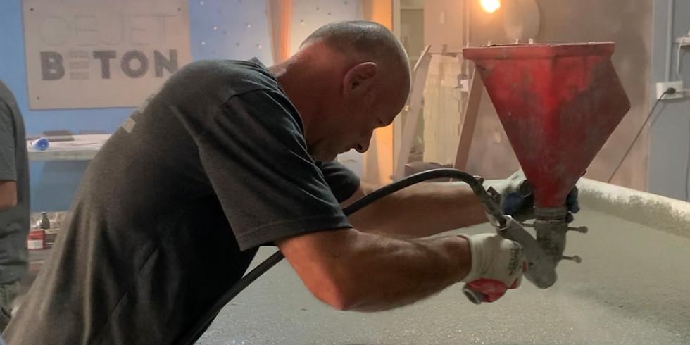 Стеклофибробетон : техники напыления, заливки: раковина, столешница