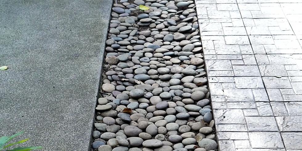Печатный и мытый бетон: создание въездных зон и тротуаров