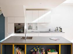 Concrete countertop table