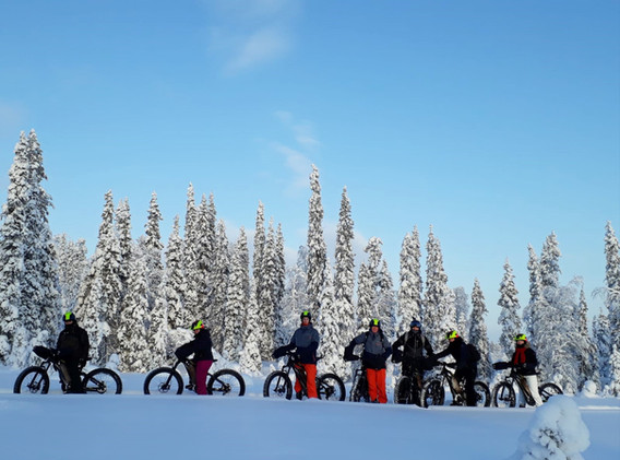 Group of jolly bikers