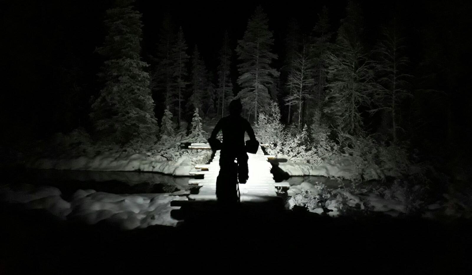 Bike light showing the way