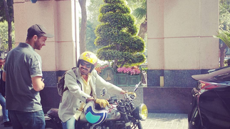 Cinematographer Charlie Williams discusses vintage motor cycles on a production in Mexico City.