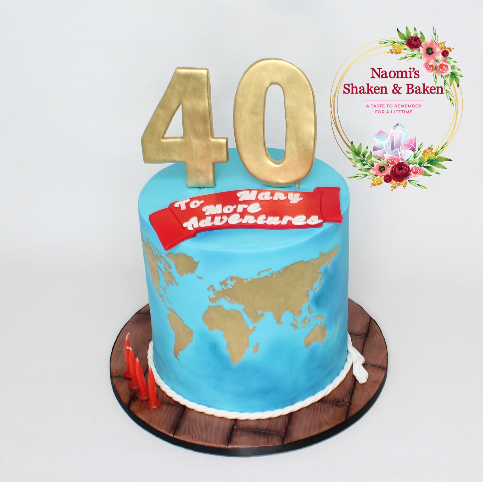 40th Adventure World Birthday Cake