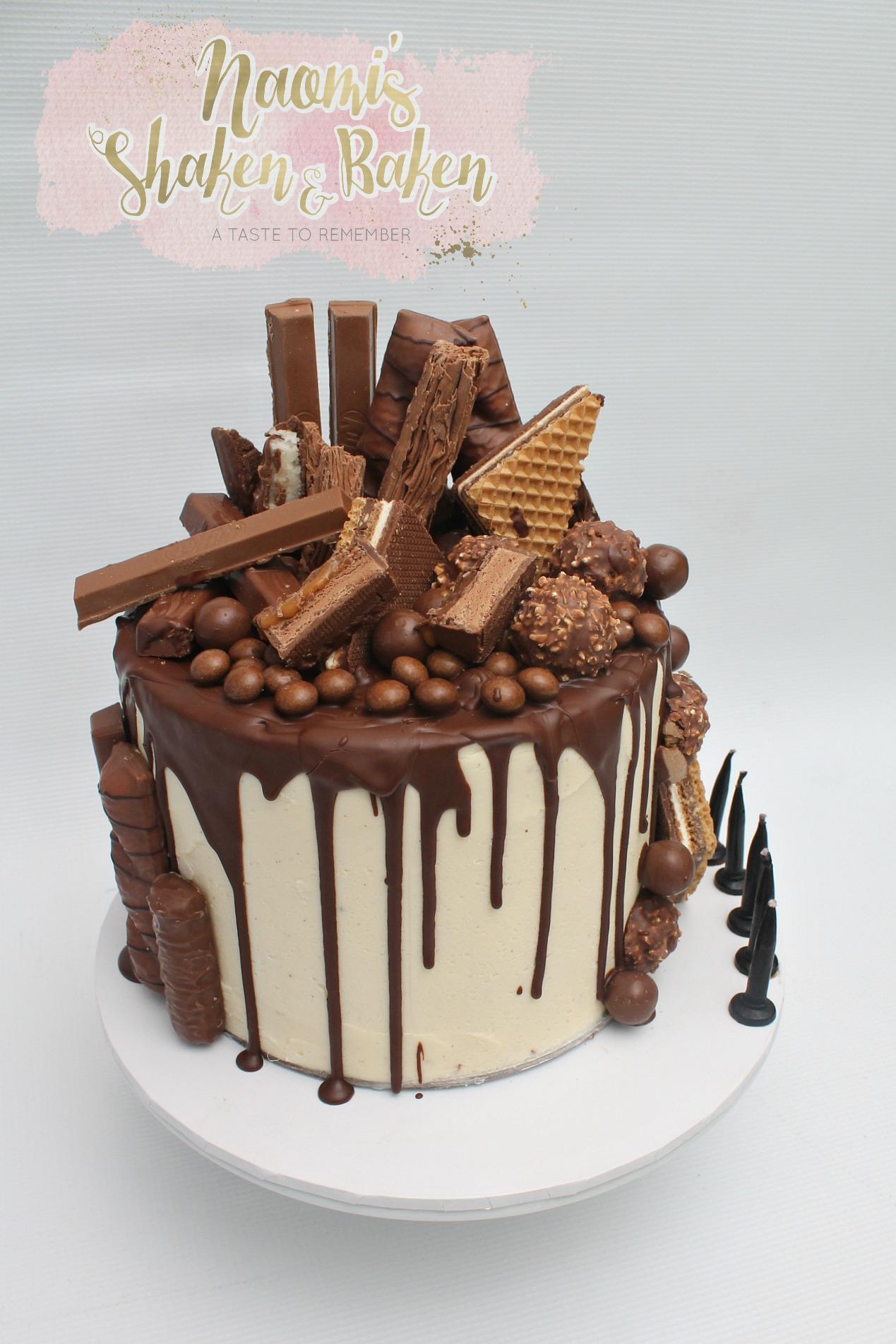 Chocolate Drizzle Birthday Cake