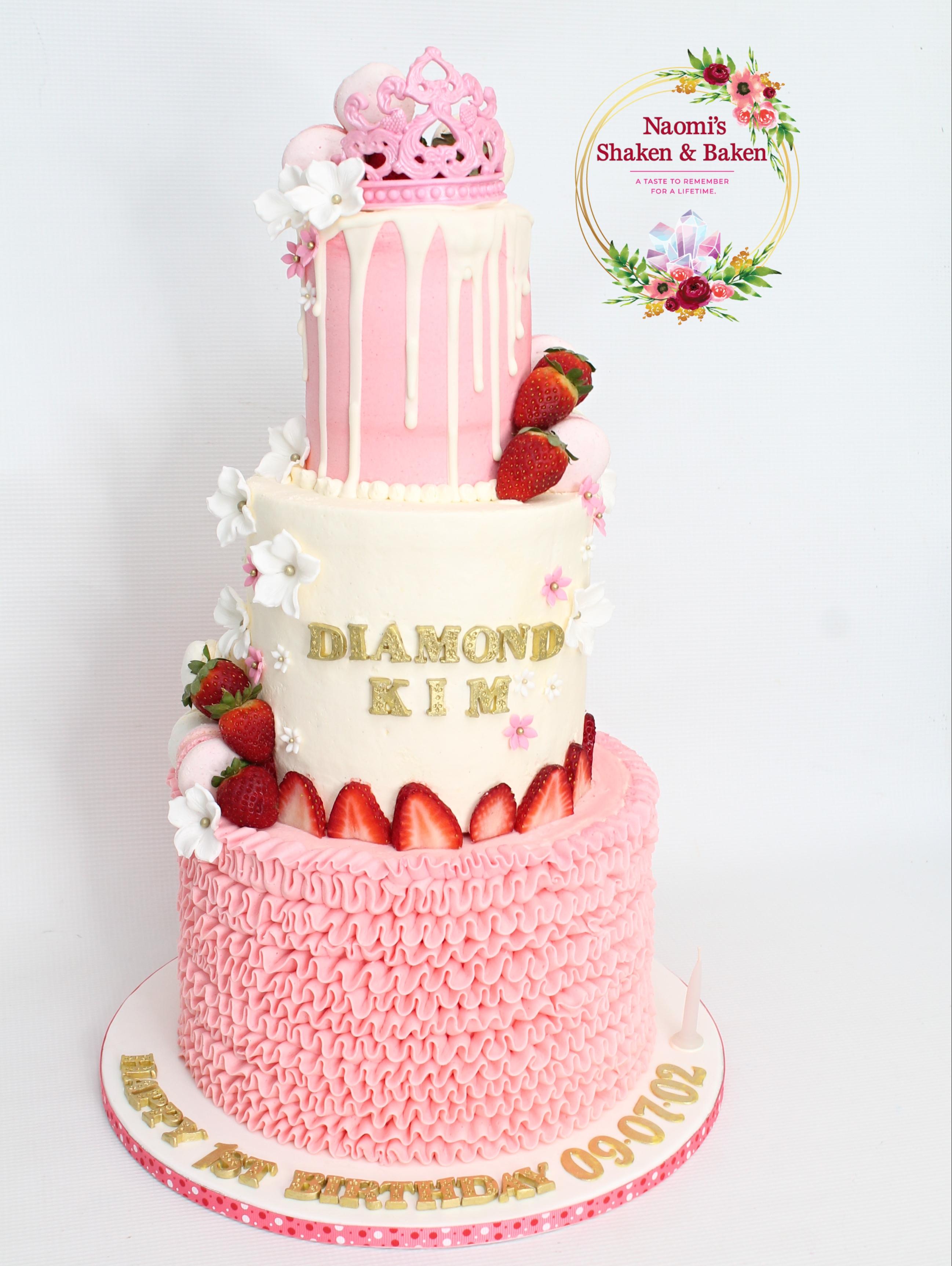 Ruffle Buttercream Birthday Cake