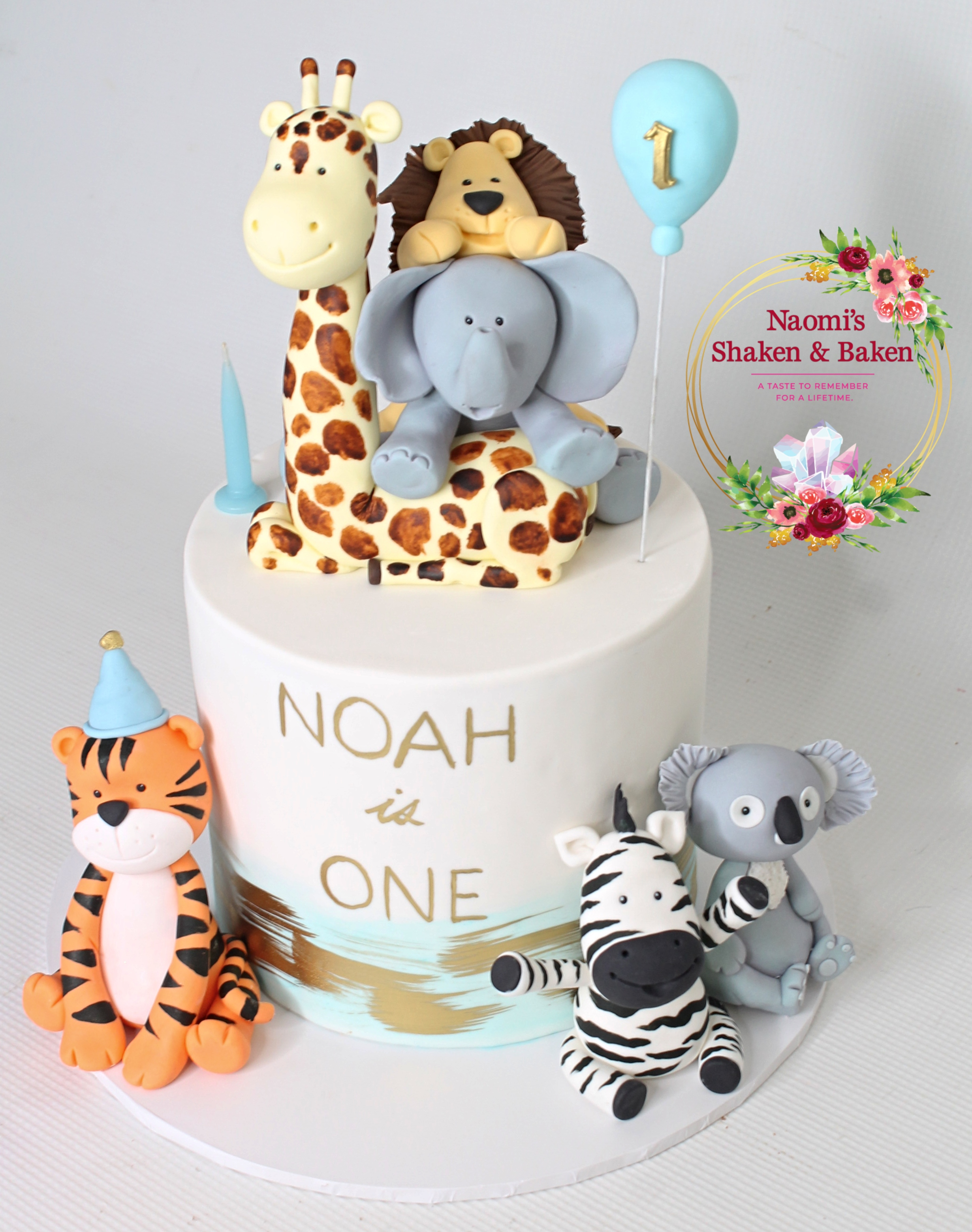 Animal First Birthday Cake Caboolture