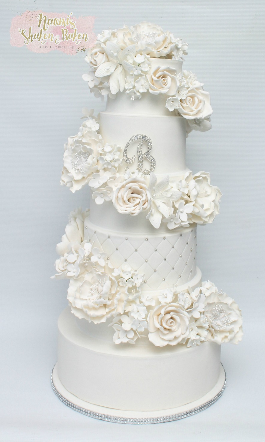 """Rebekah"" Wedding cake"