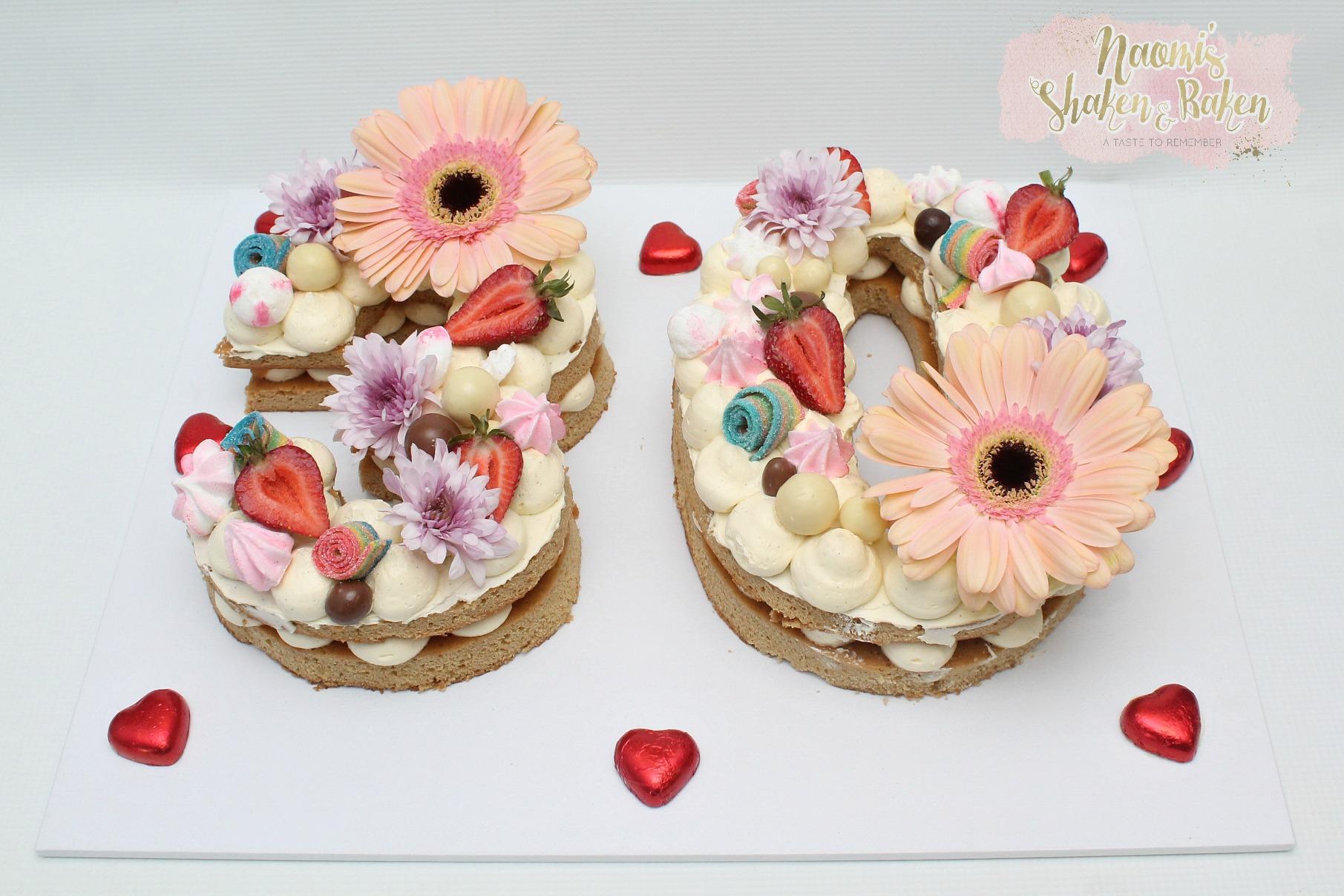 30th Birthday number cake
