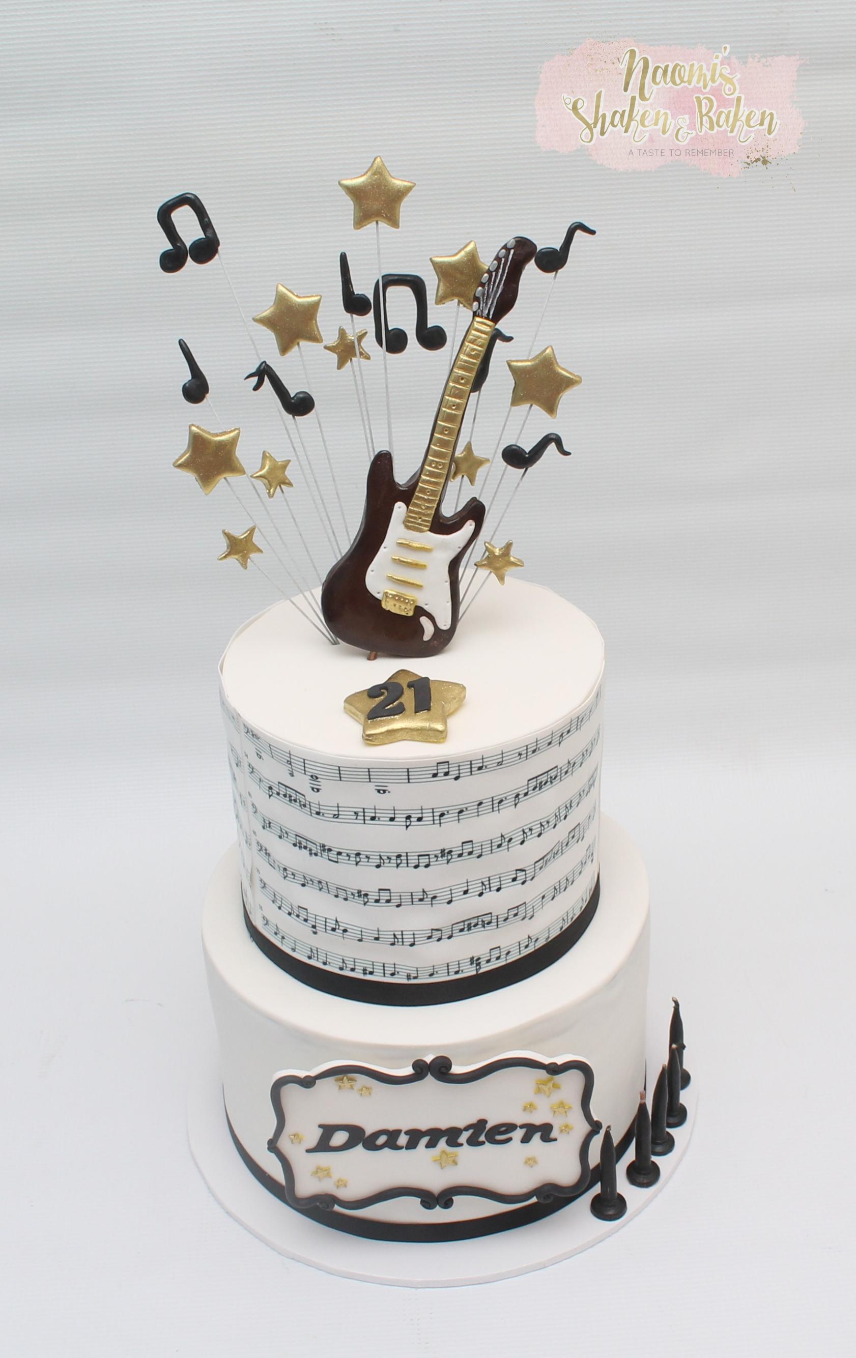 Music birthday cake caboolture