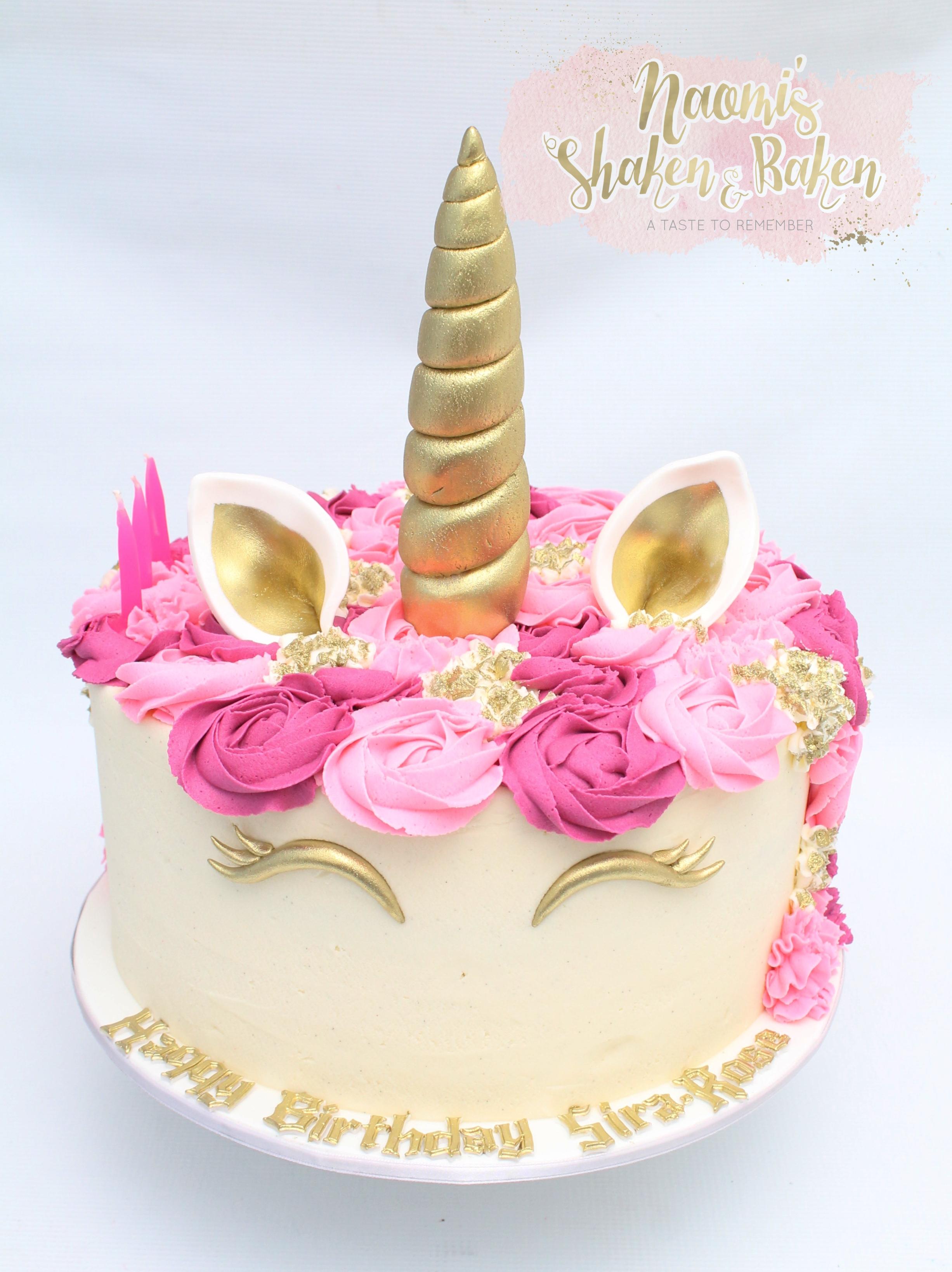 """10"""" Birthday unicorn Cake"""