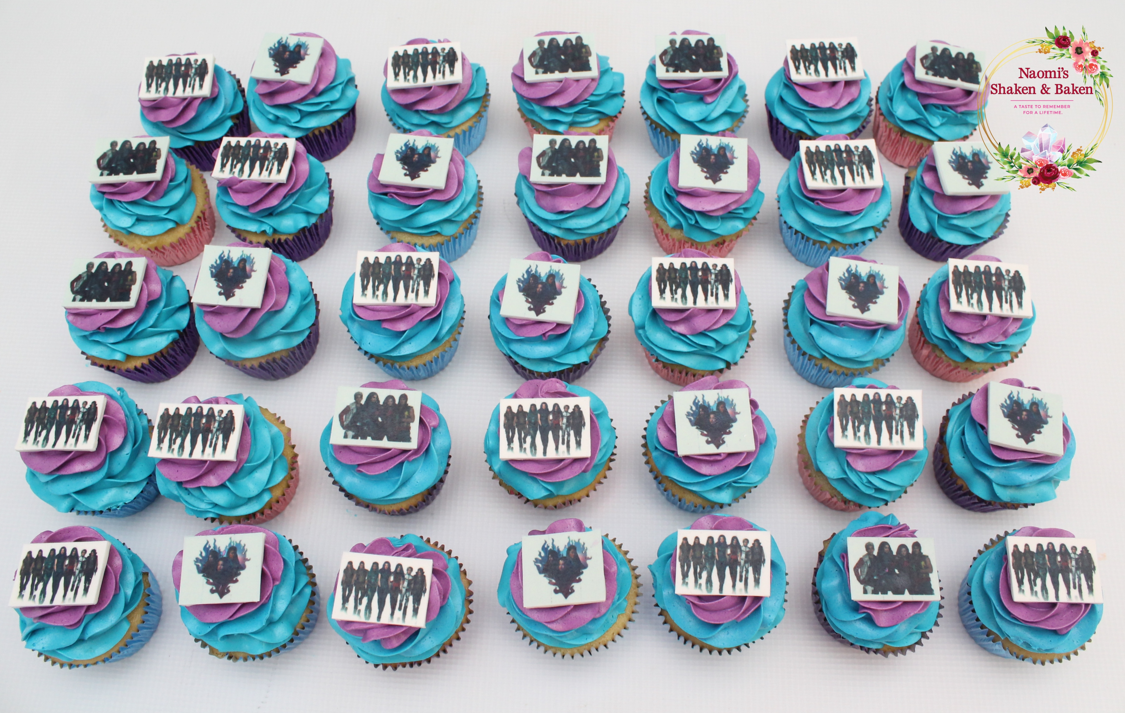 Edible image birthday cupcakes