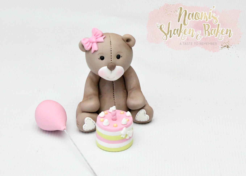 Cute teddy cake topper