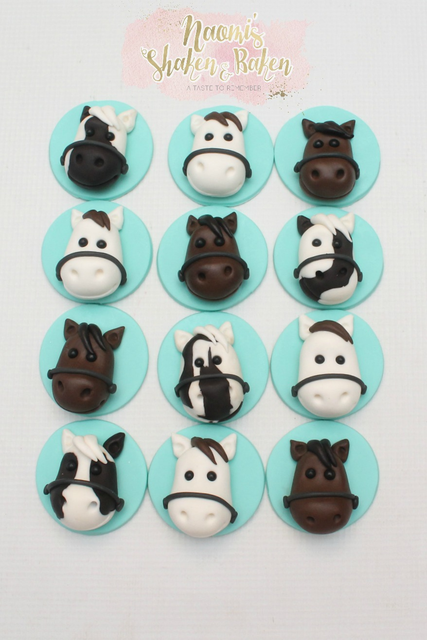 hourse cupcake toppers