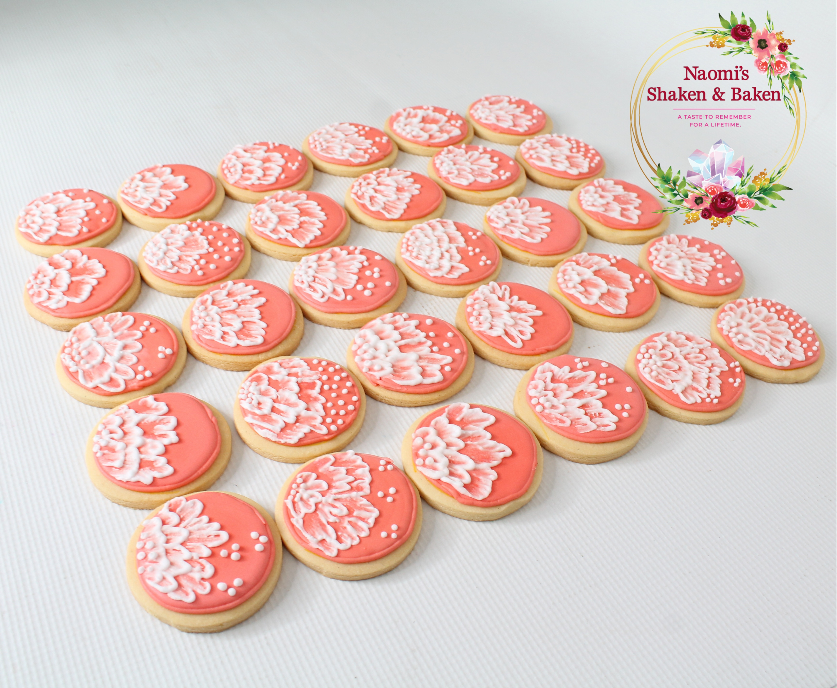 "2.5"" Royal Icing Brush Embroidery Cookies Caboolture"