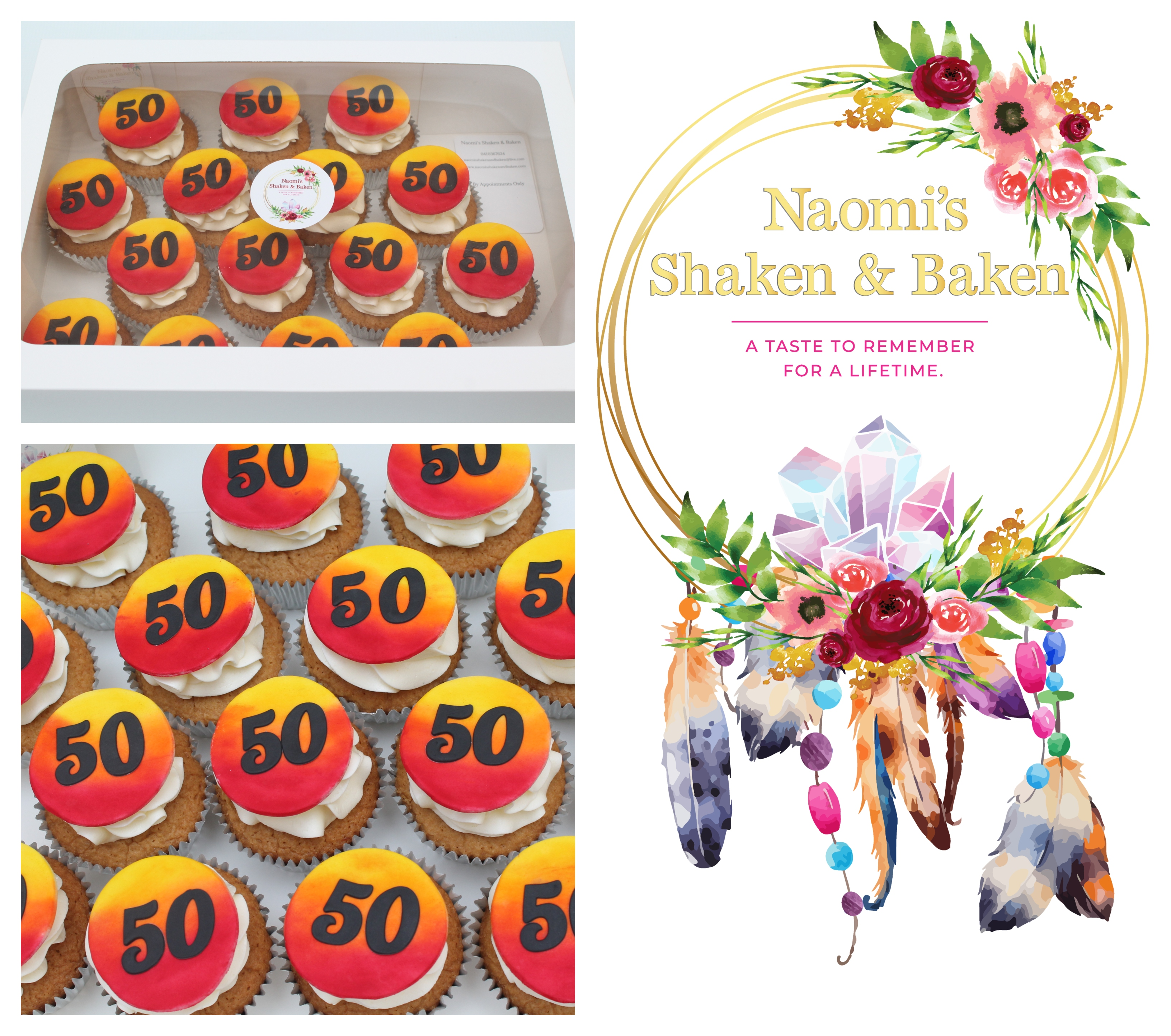 Birthday cupcakes African themed 50th