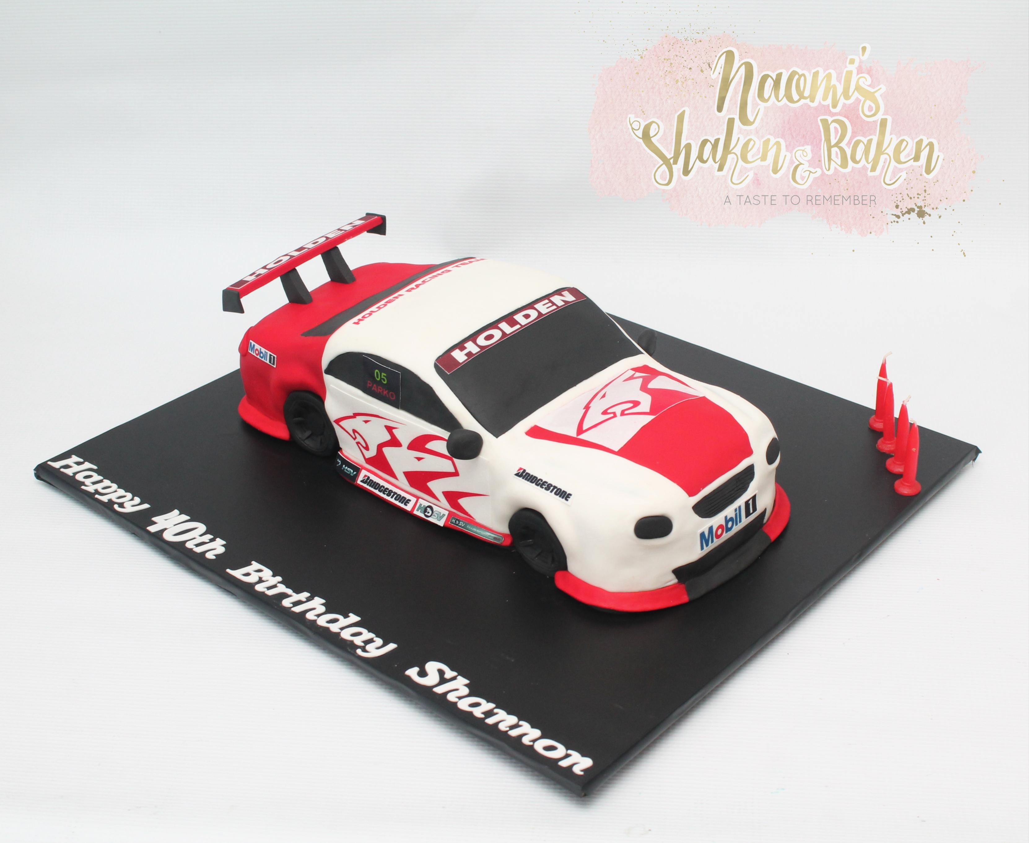 3D Holden Racing Car Birthday Cake