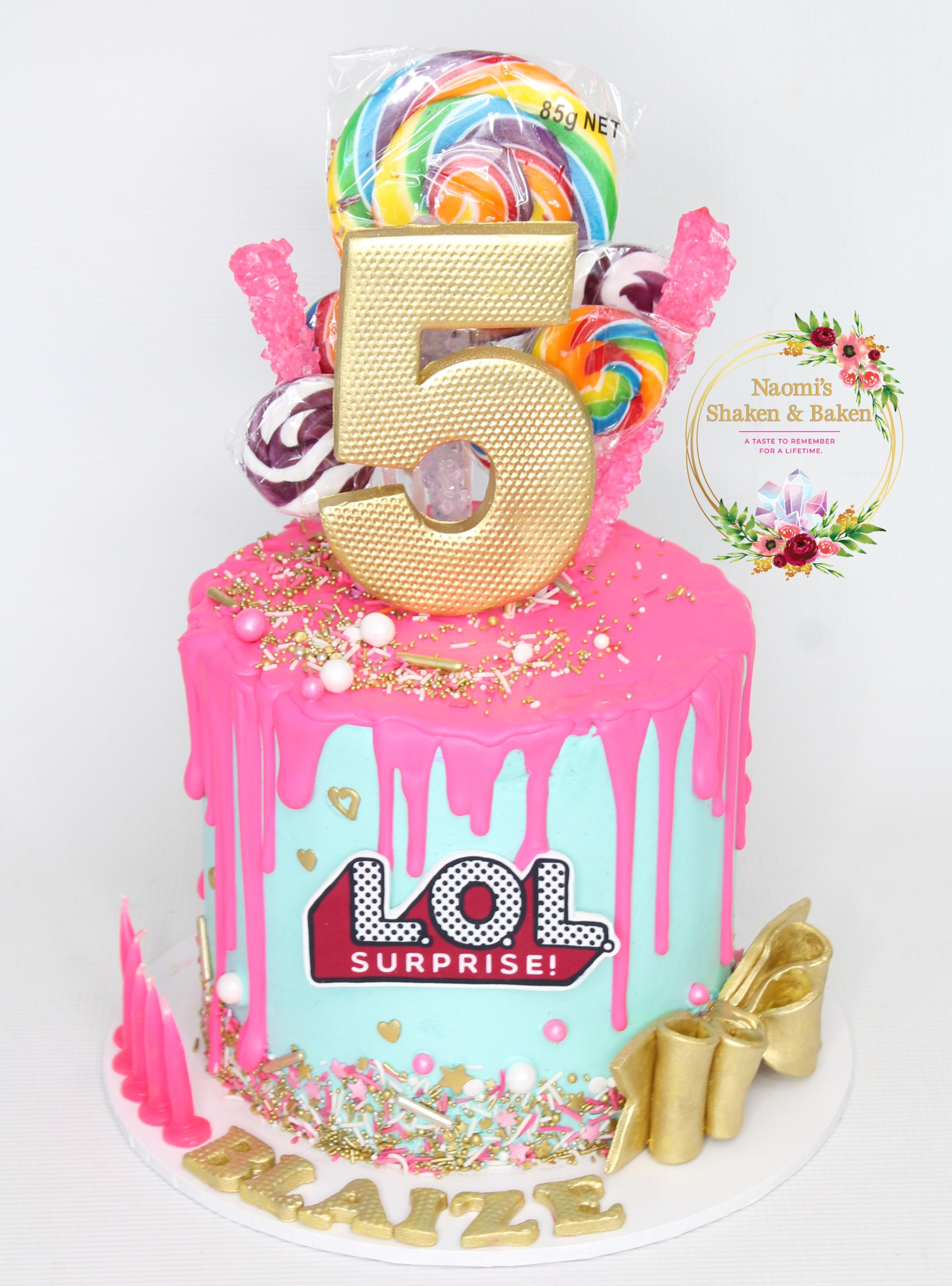 LOL Drip Birthday Cake