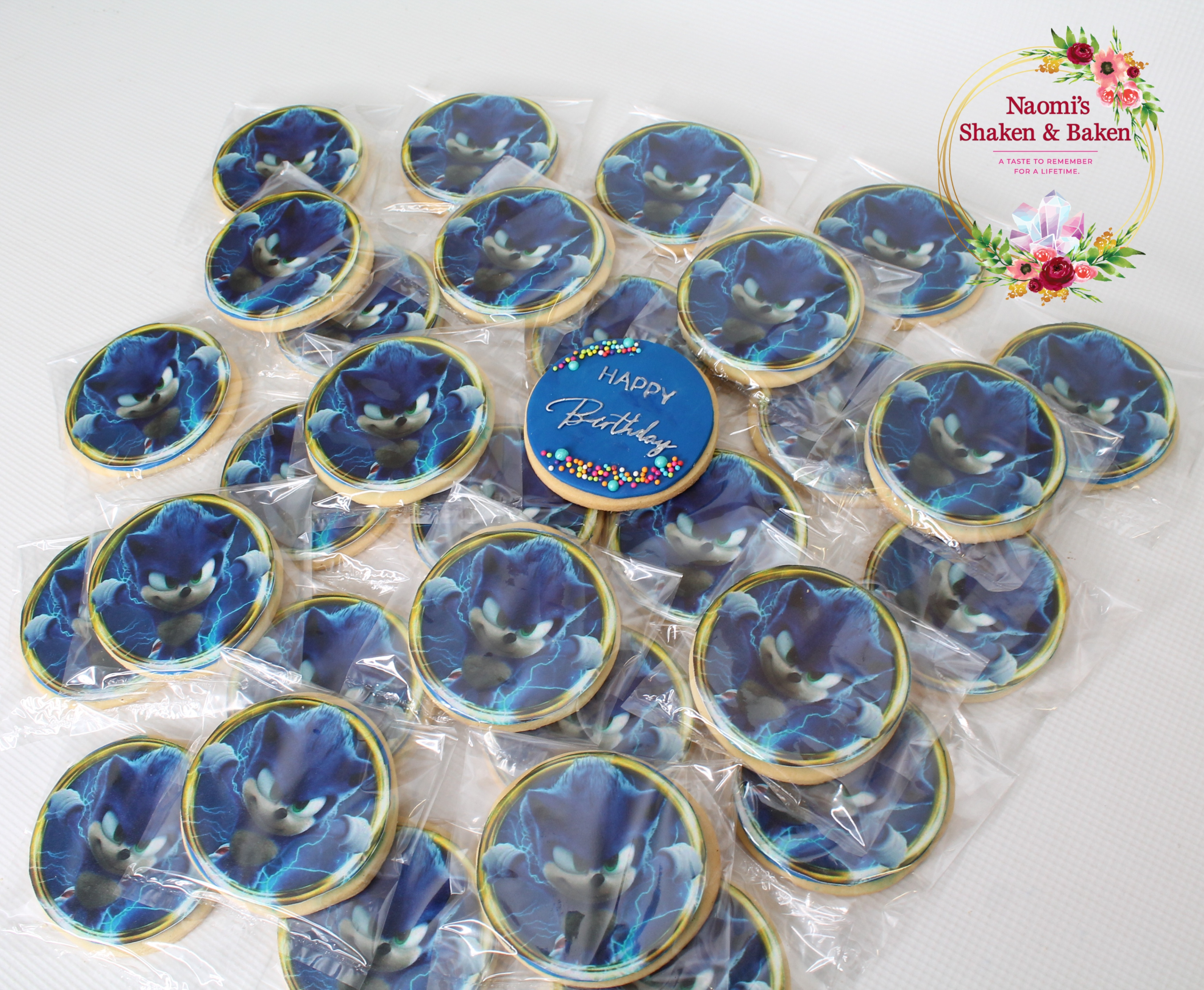 "3"" Sonic Edible Image Vanilla Bean Cookies Caboolture"