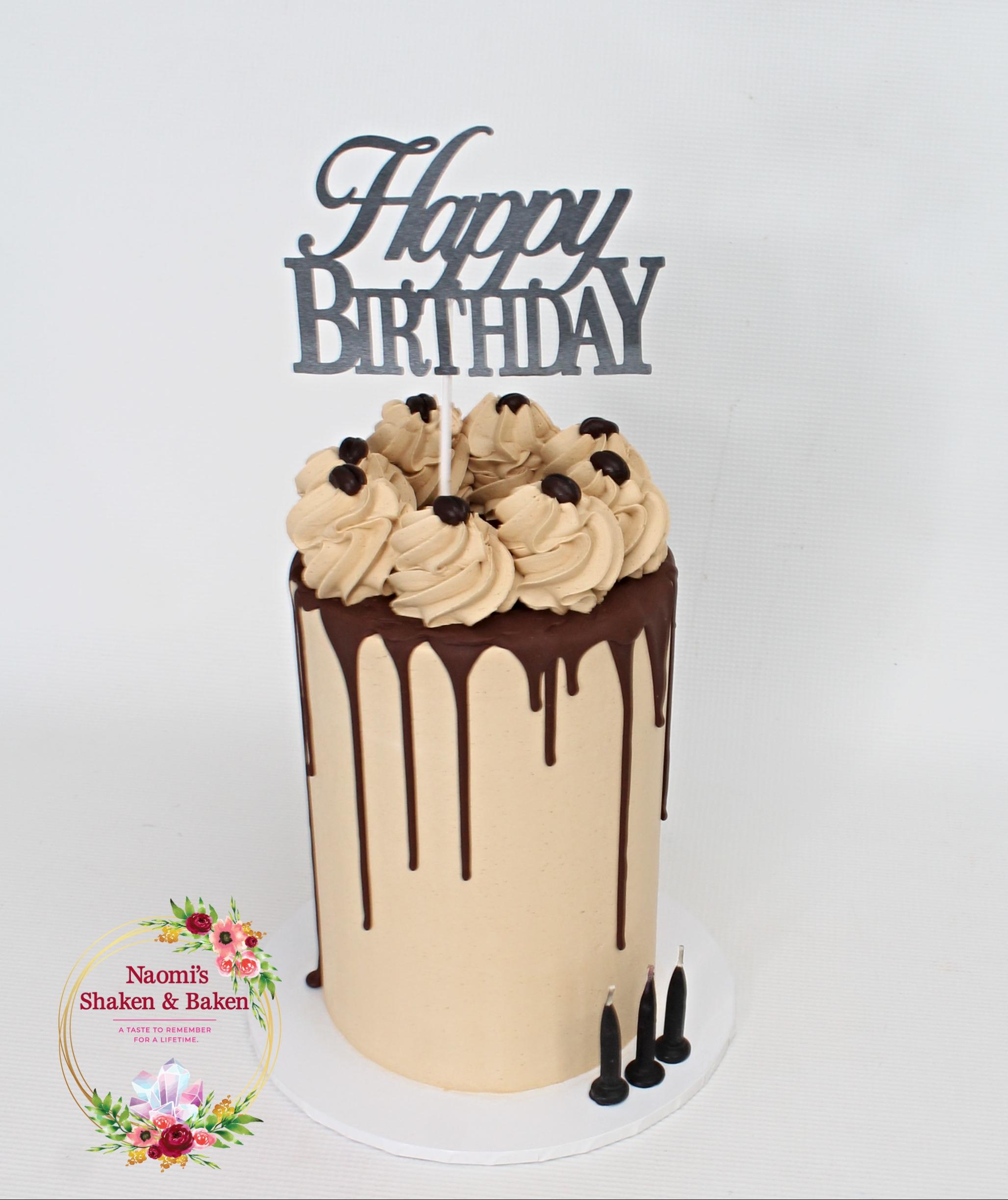 Coffee Kuhlua Birthday Cake