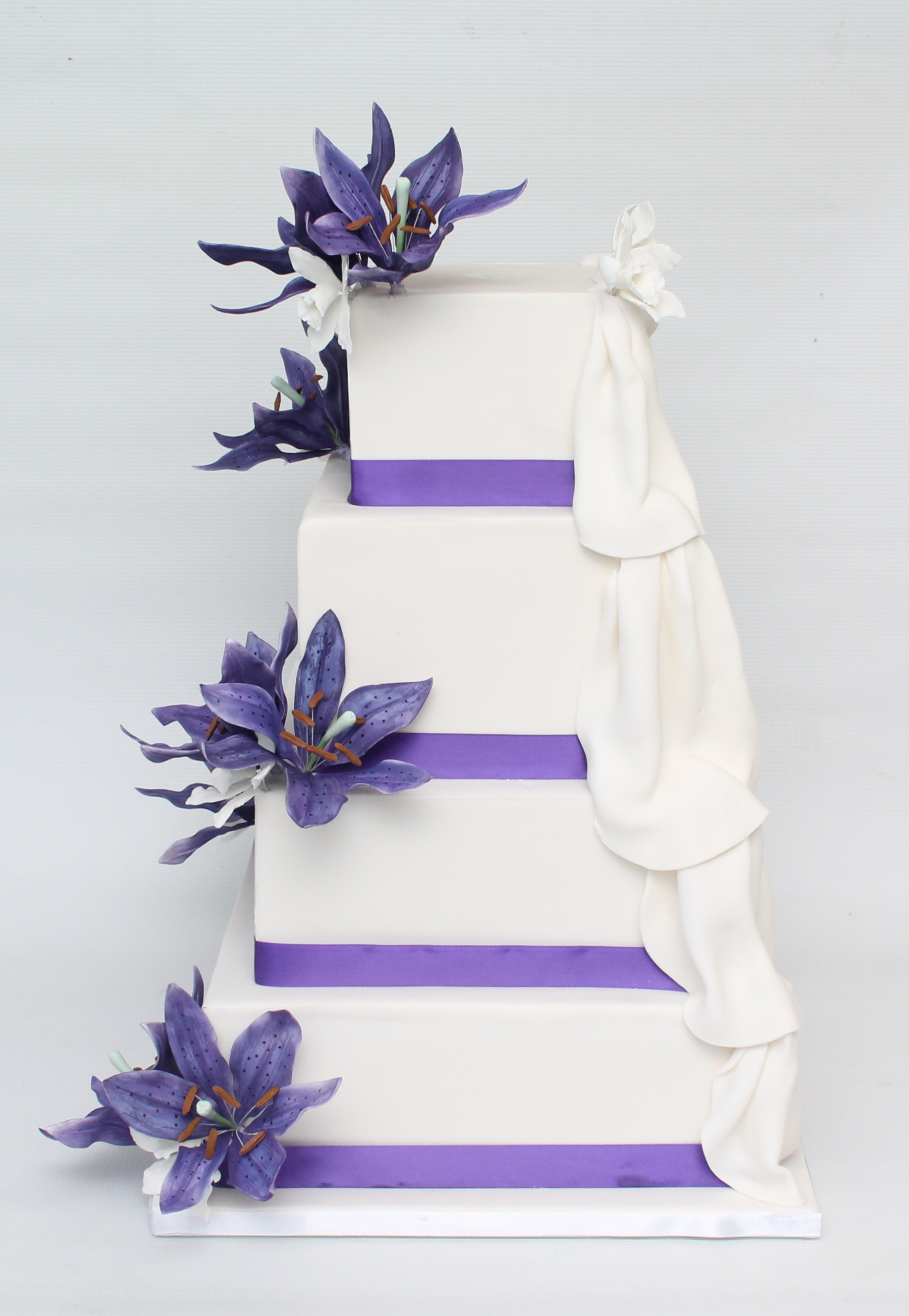 Wedding cake side view