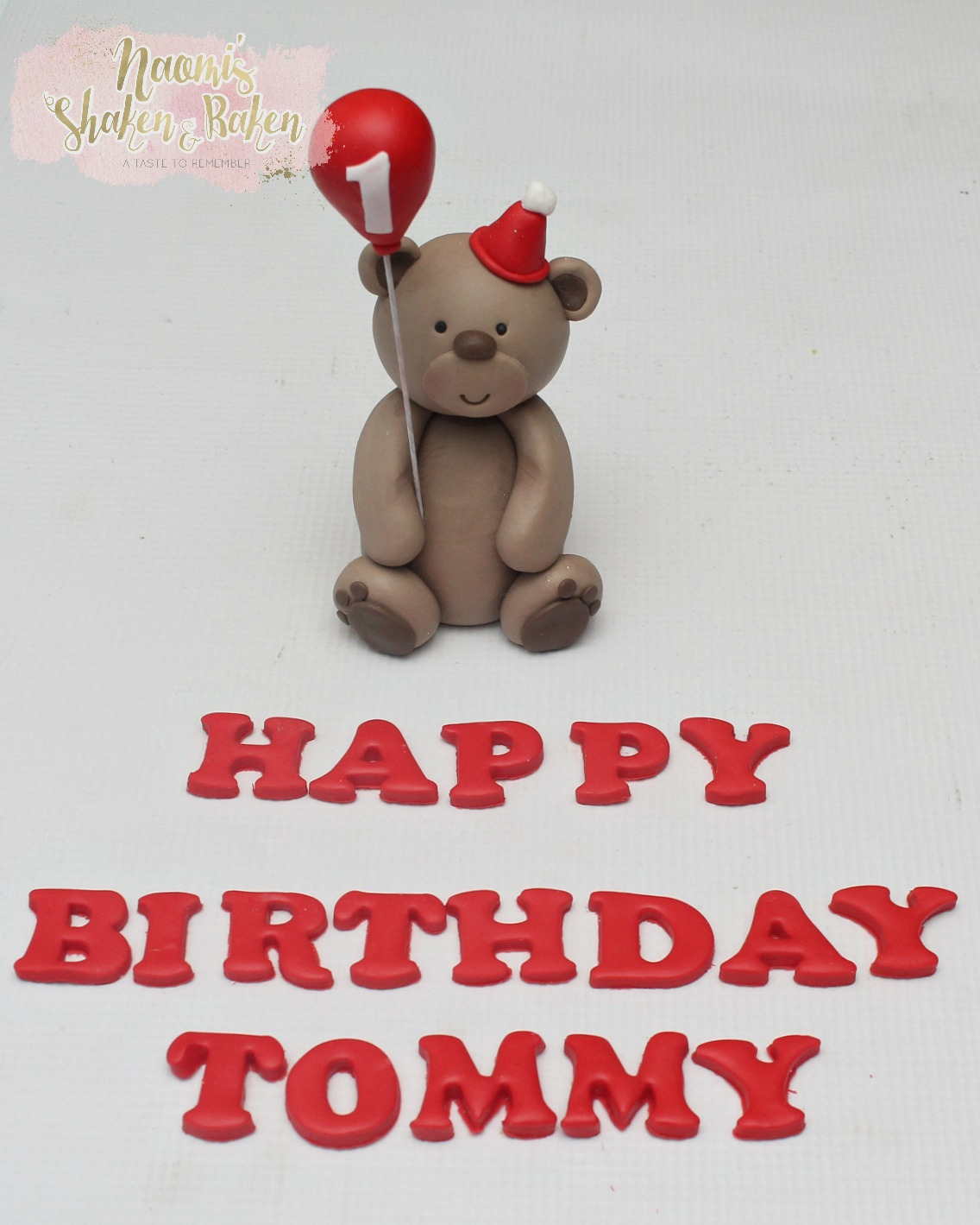 Cute teddy bear topper set