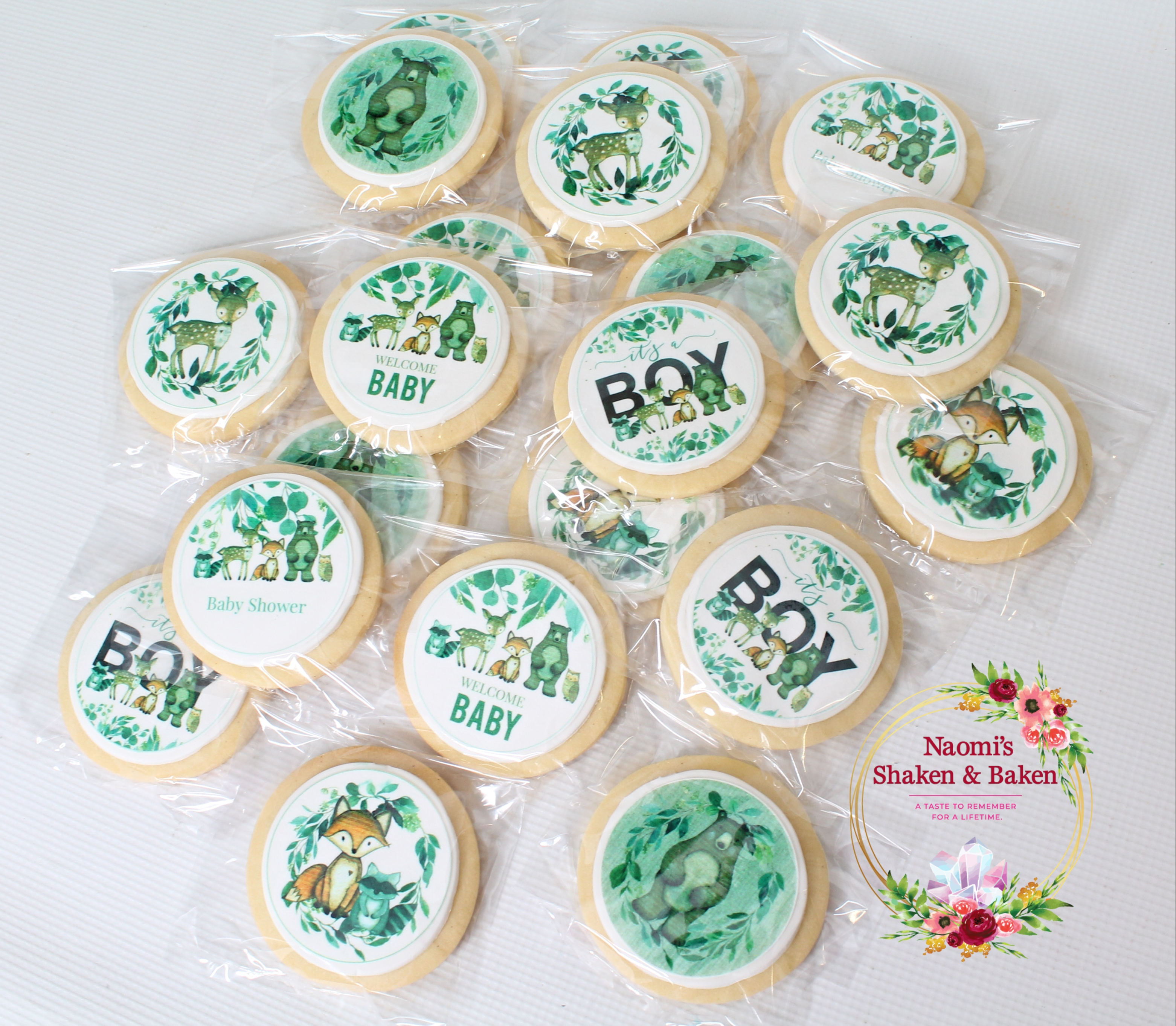 Woodland Themed Baby Shower Cookies Caboolture