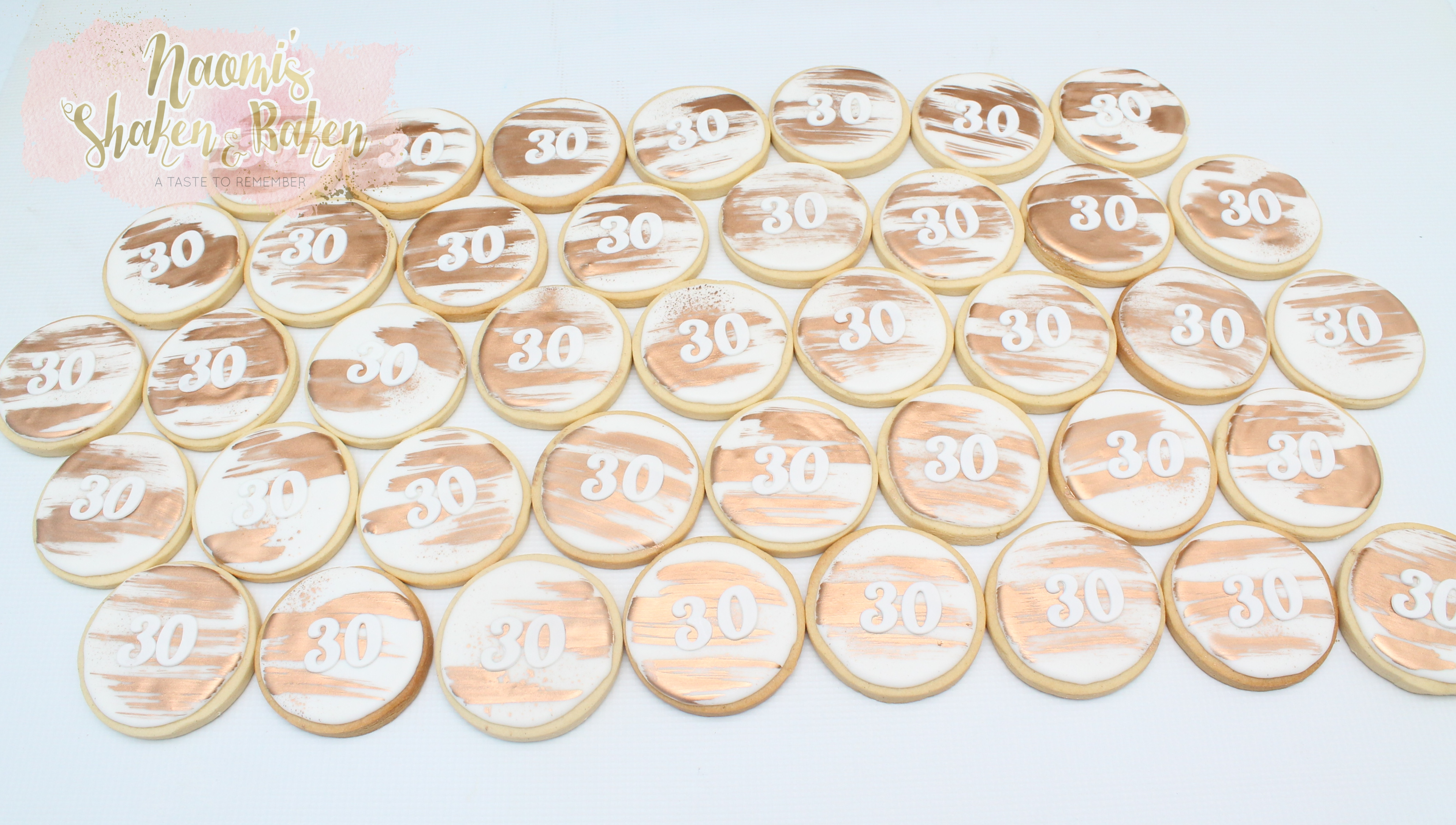 "3"" Royal Icing Birthday Cookies Age 30"