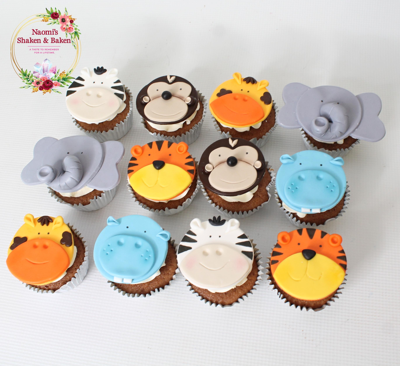 Jungle Animal Cupcakes Morayfield