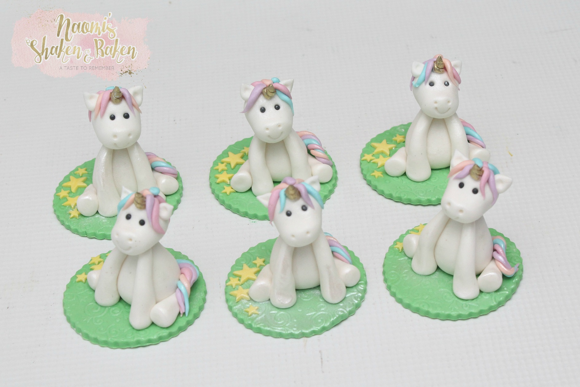 Edible Uniconr Cupcake Toppers