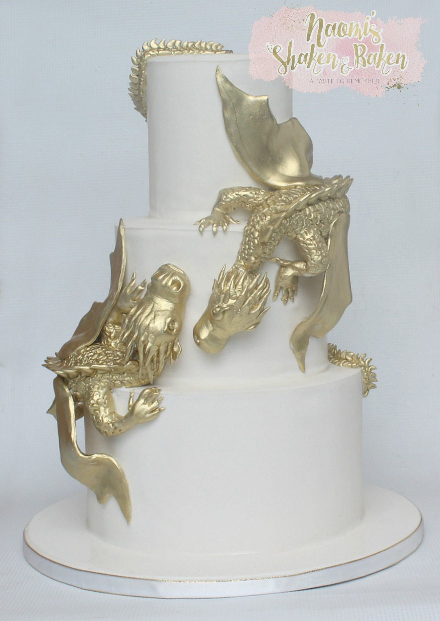 Standstone point Dragon Wedding cake