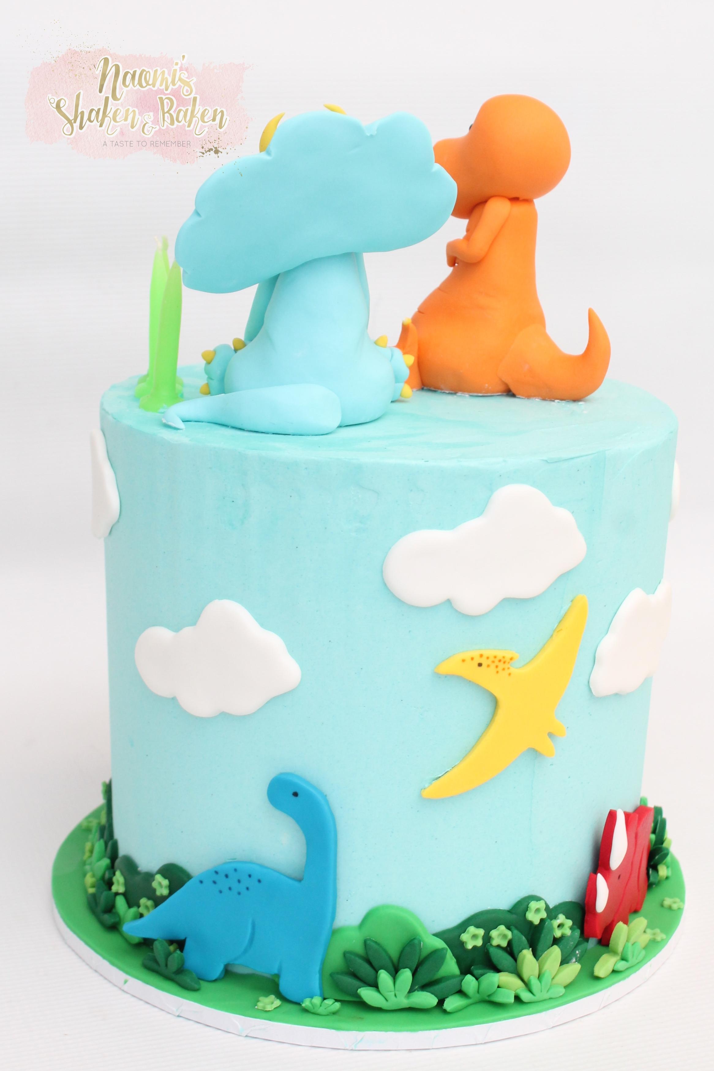 Dinosaur cake Caboolutre