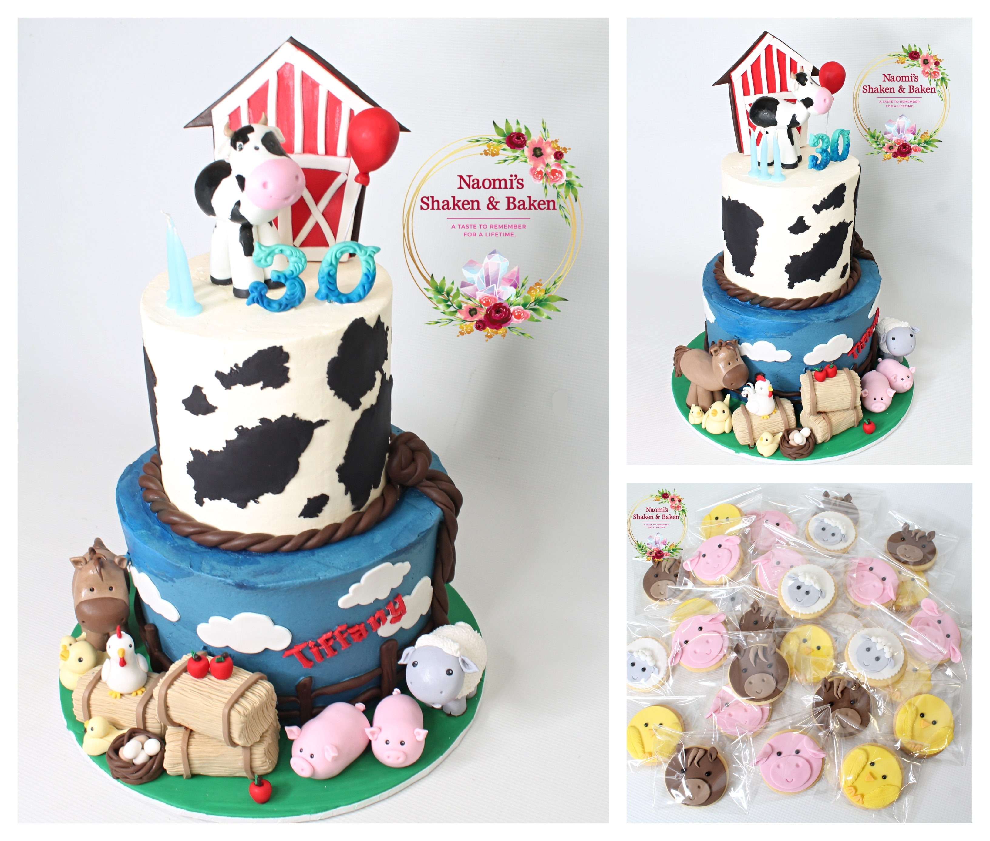 Farm Animal 30th Birthday Cake Caboolture