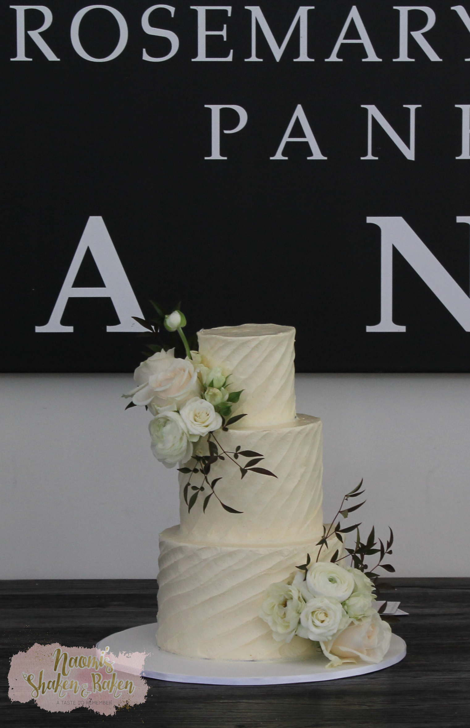 Buttercream & Flowers Wedding Cake