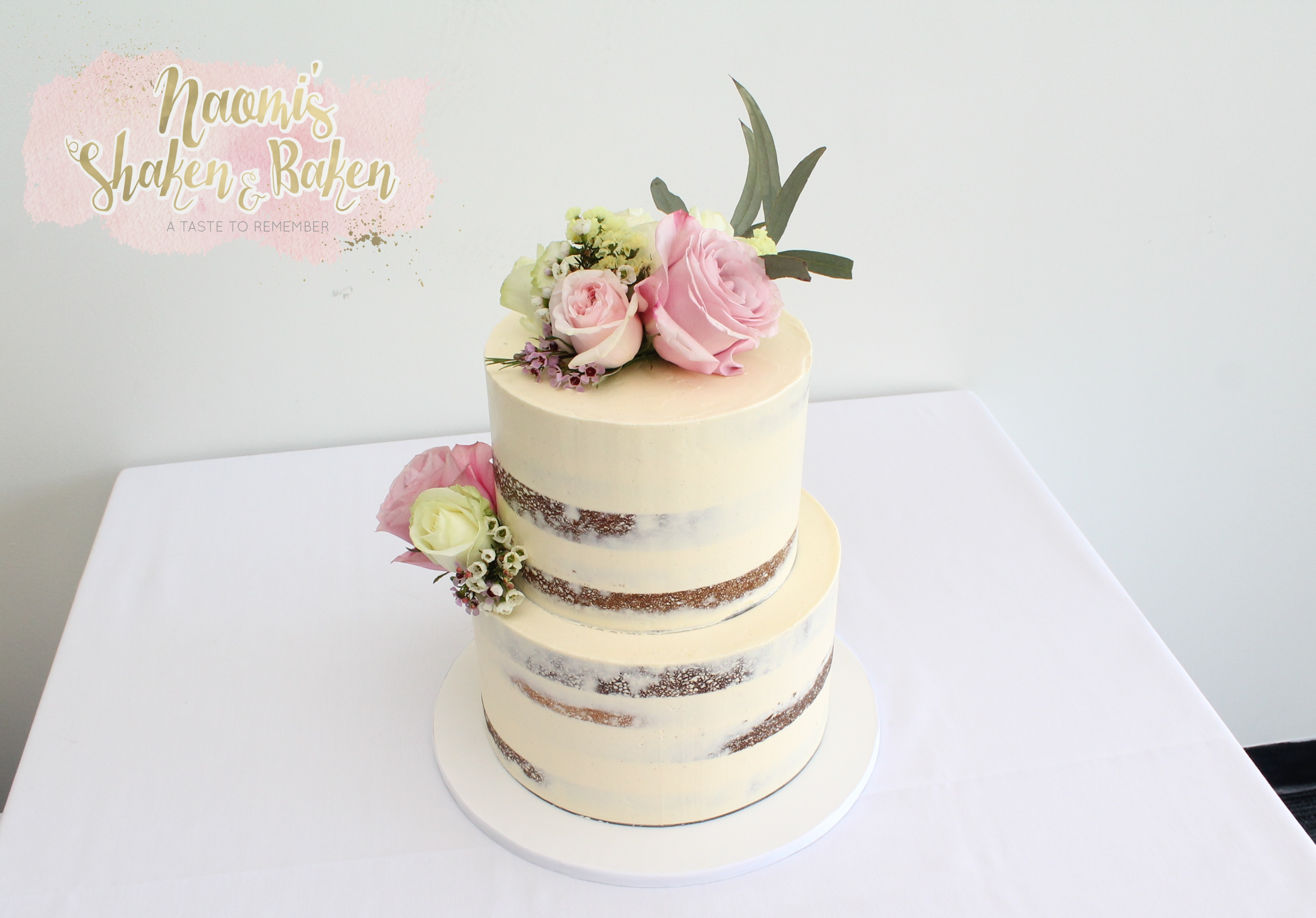 Semi Naked wedding cake Bribie