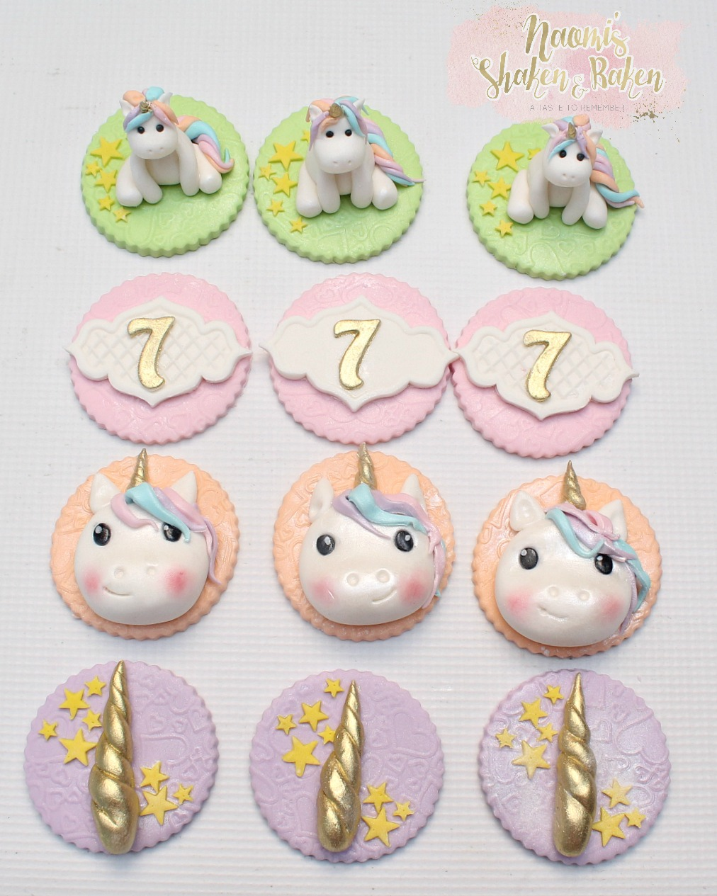 Edible unicorn cupcake toppers