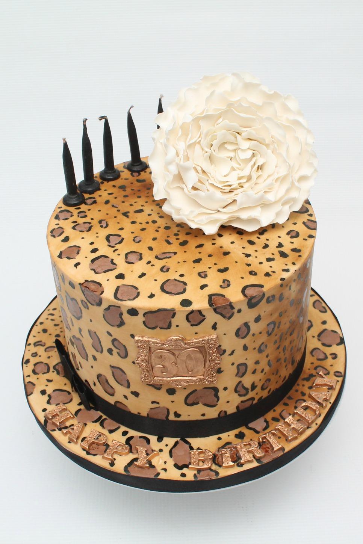 Leopard Print 30th birthday cake