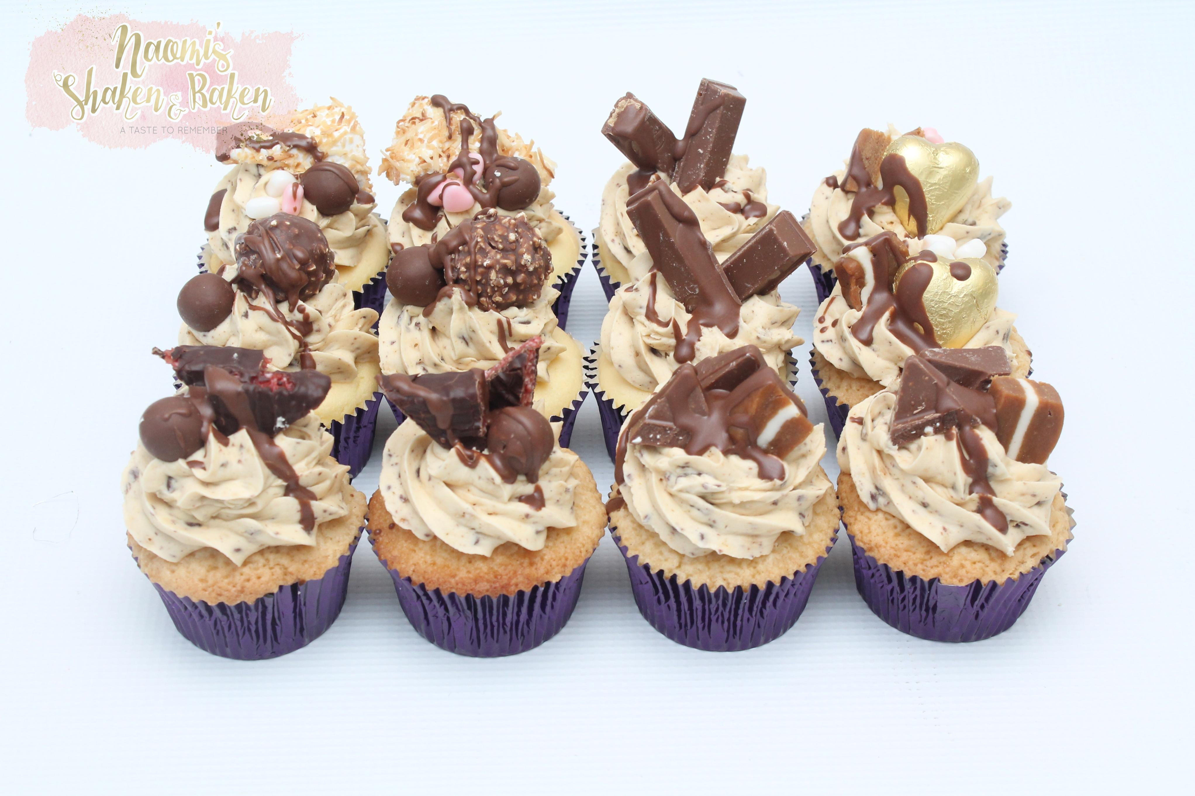 Mixed chocolate cupcakes