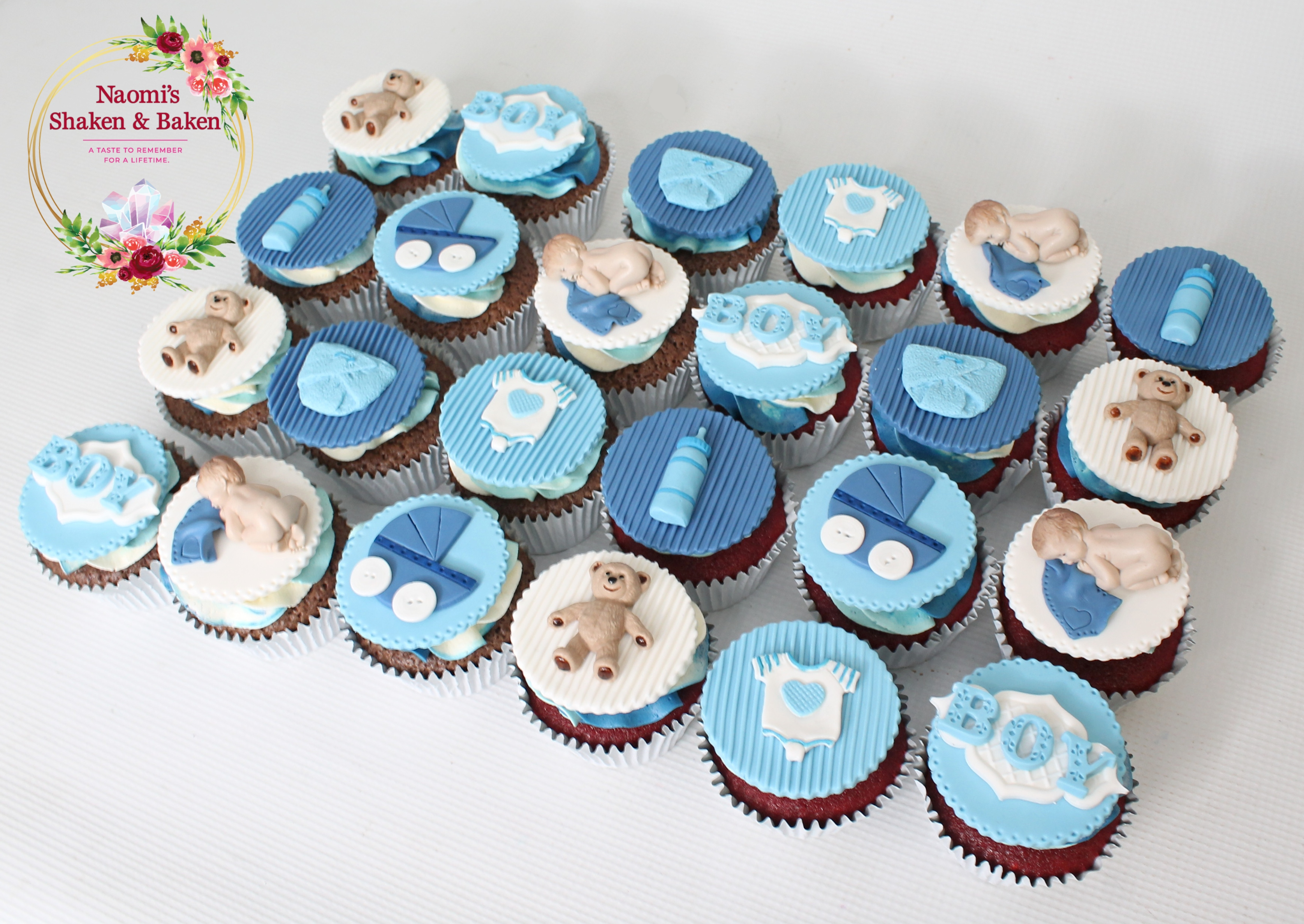 Boy Baby Shower Cupcakes Caboolture