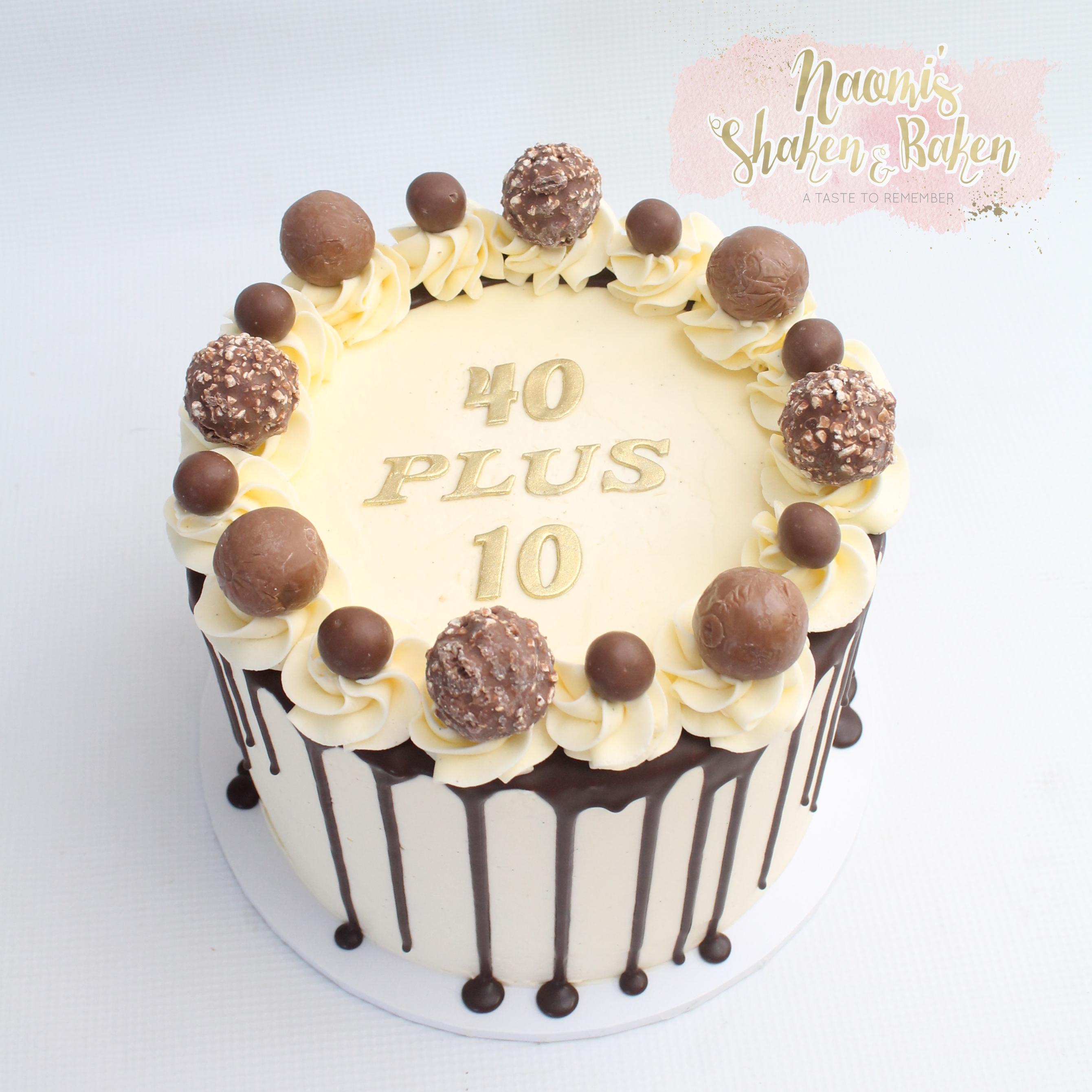 50th Birthday cake Drip Cake