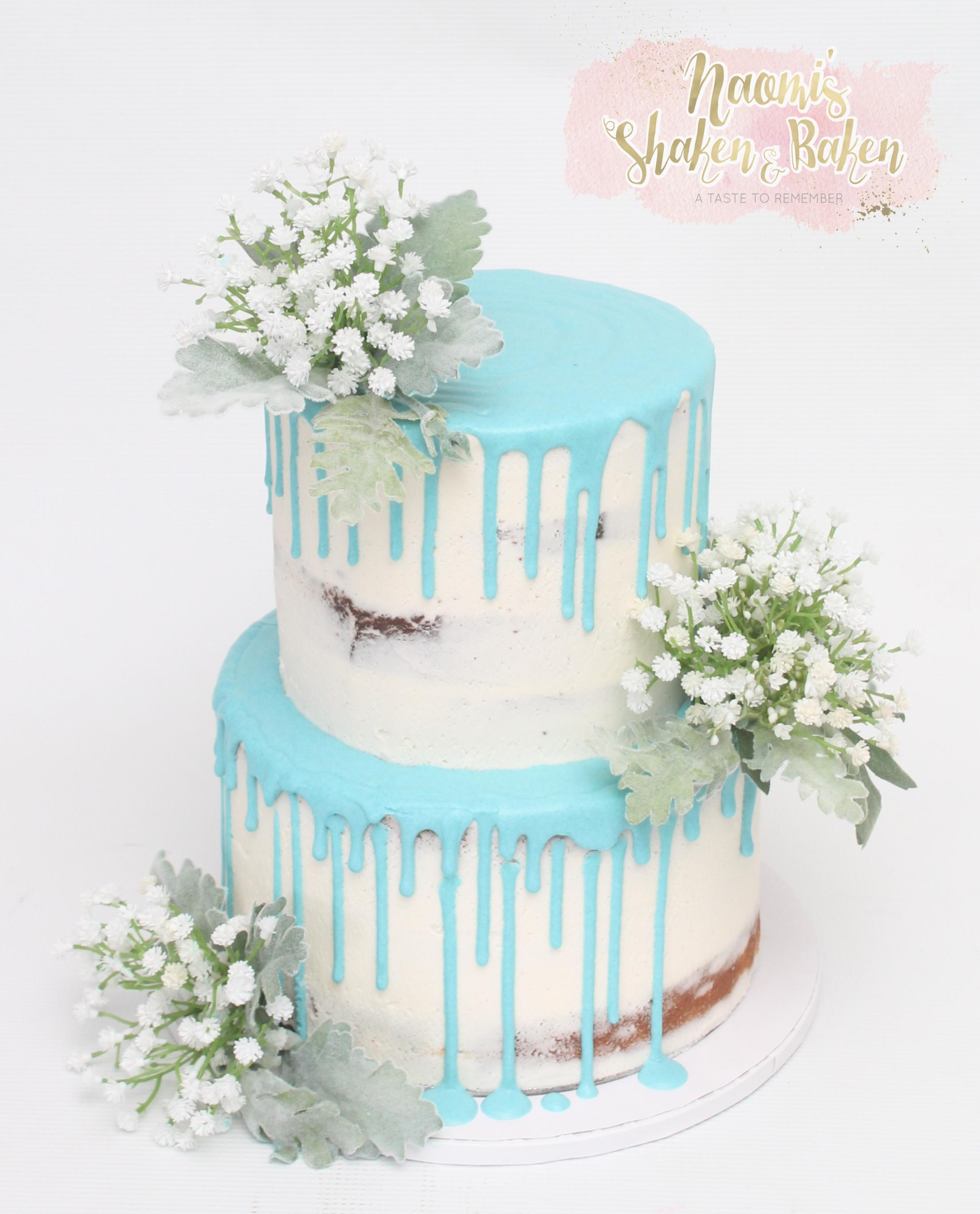 Boy Baby Shower Drip Cake