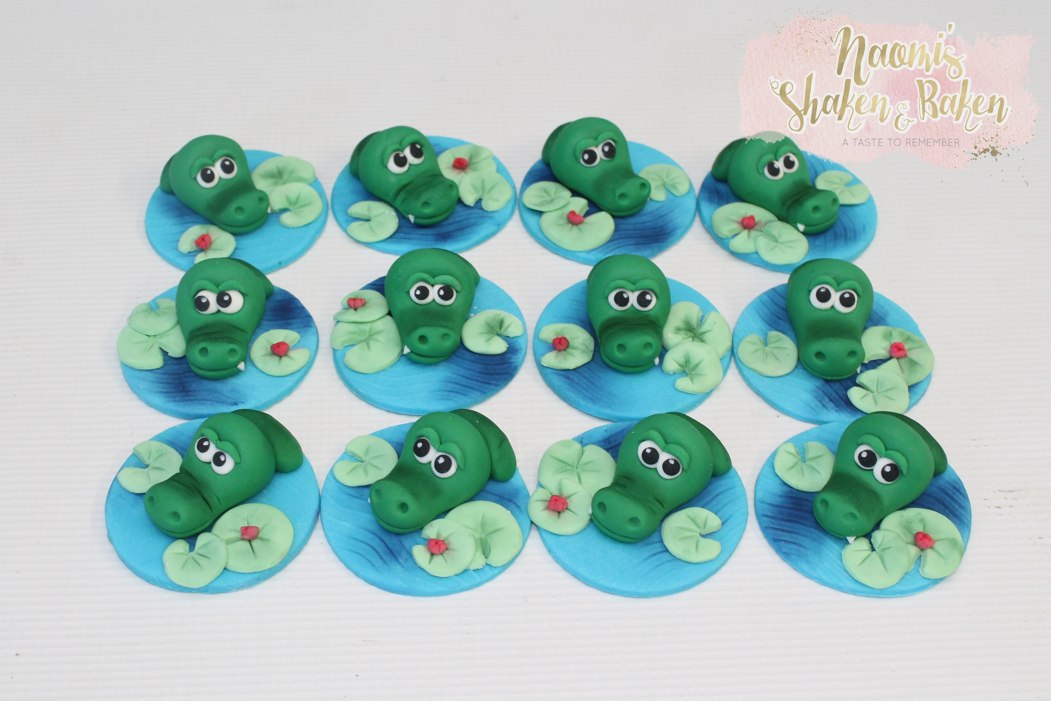 crocodile cupcake toppers