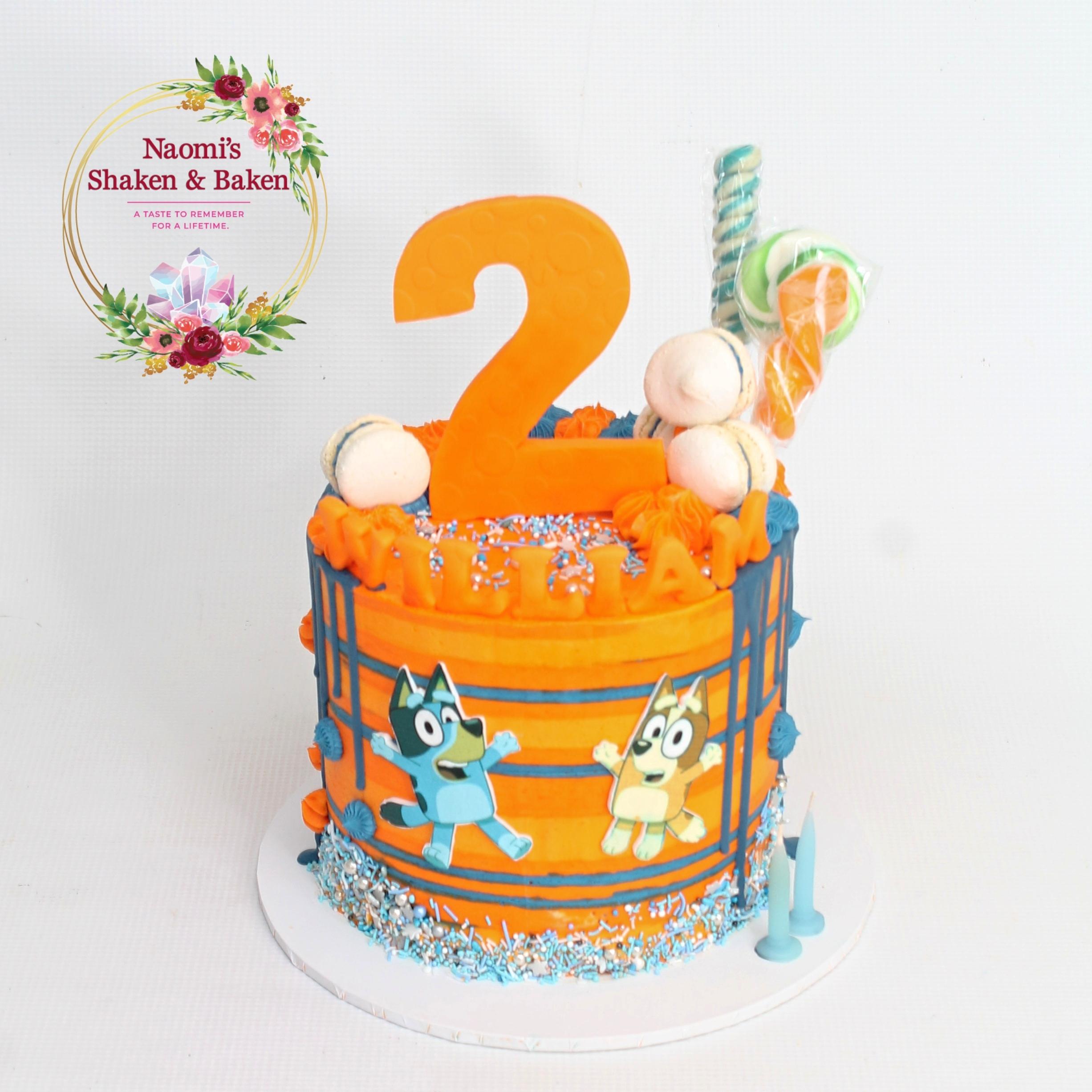 Blue & Bingo Birthday Cake Caboolture
