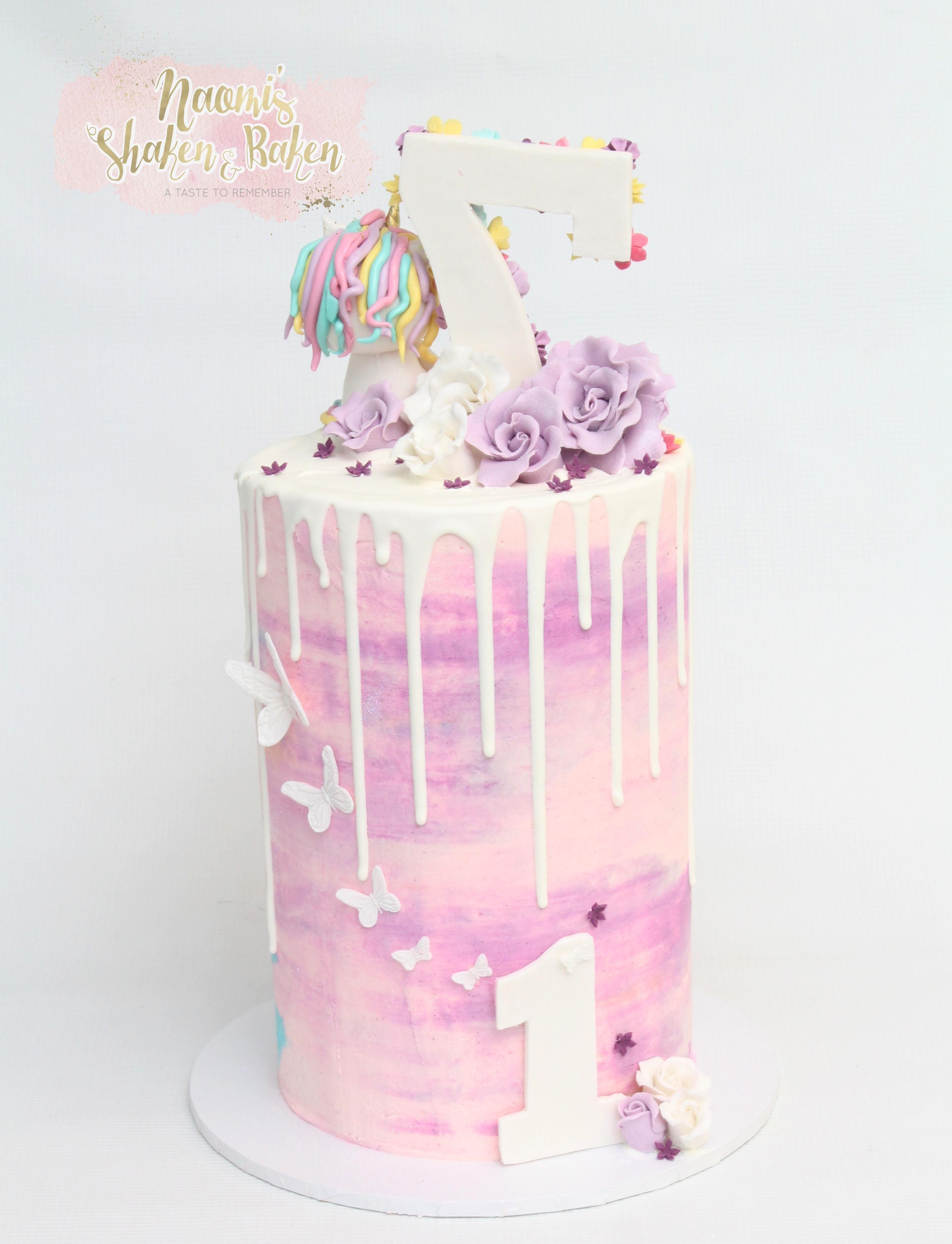 Half n Half Birthday cake
