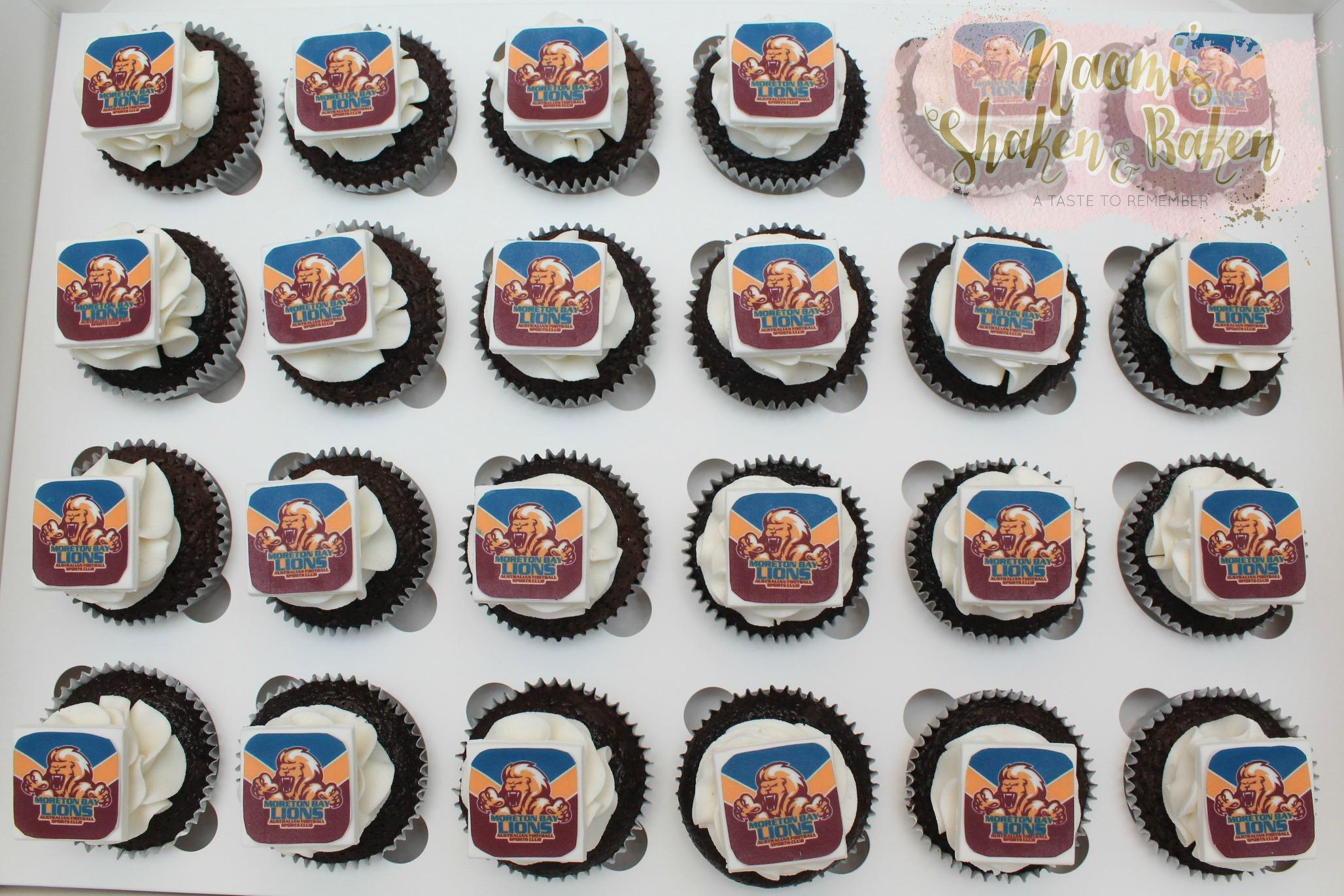 Lions club birthday cupcakes