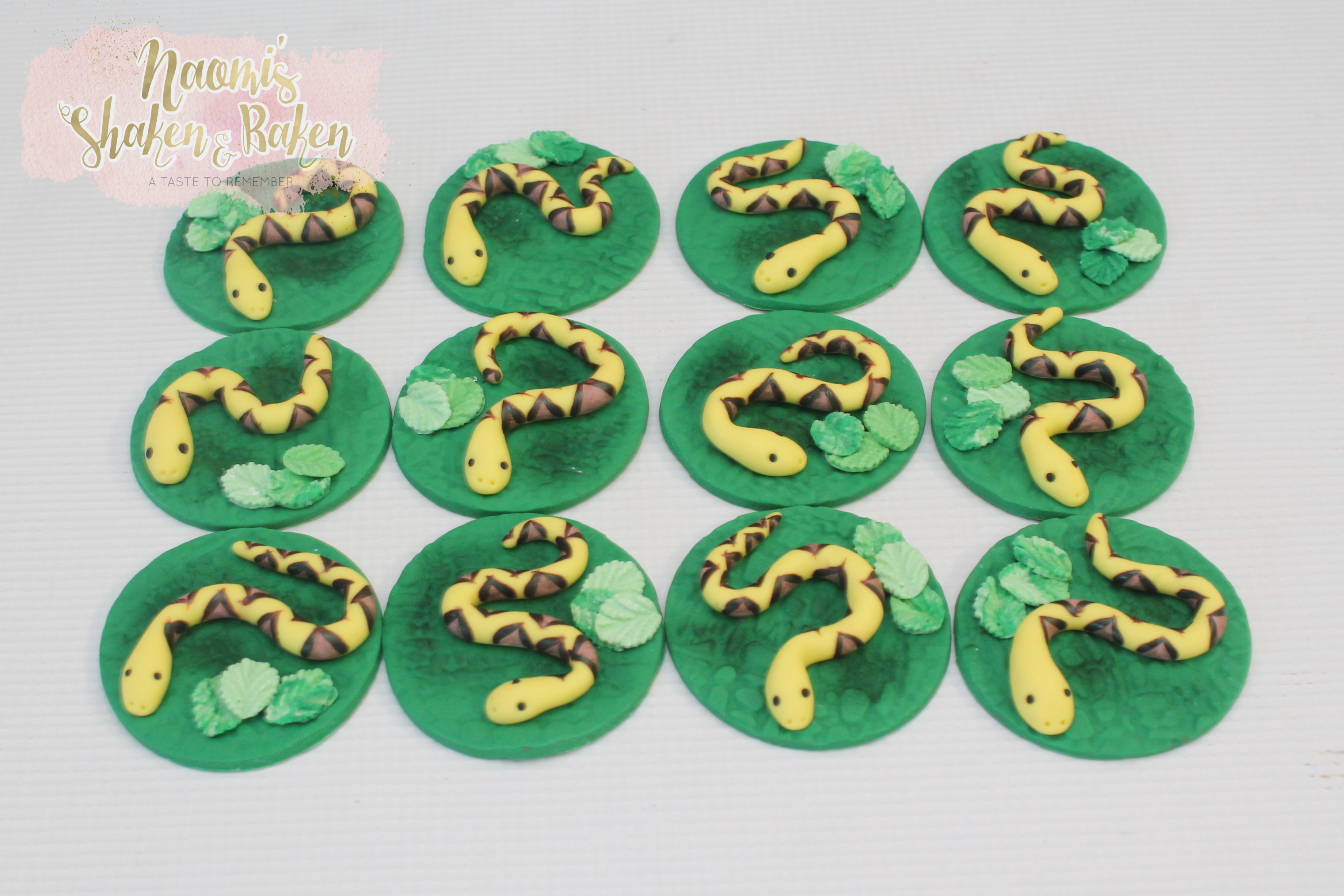Snake cupcake toppers caboolture