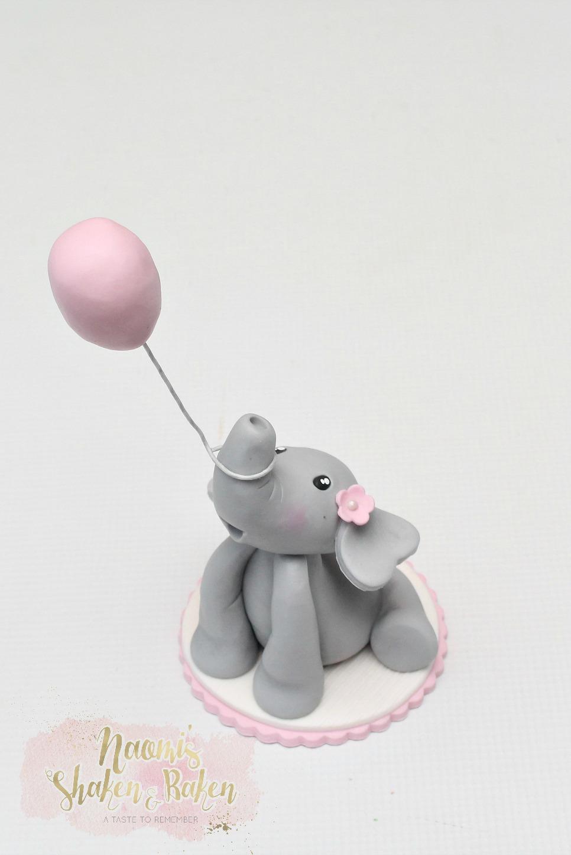 Cute elephant cake topper