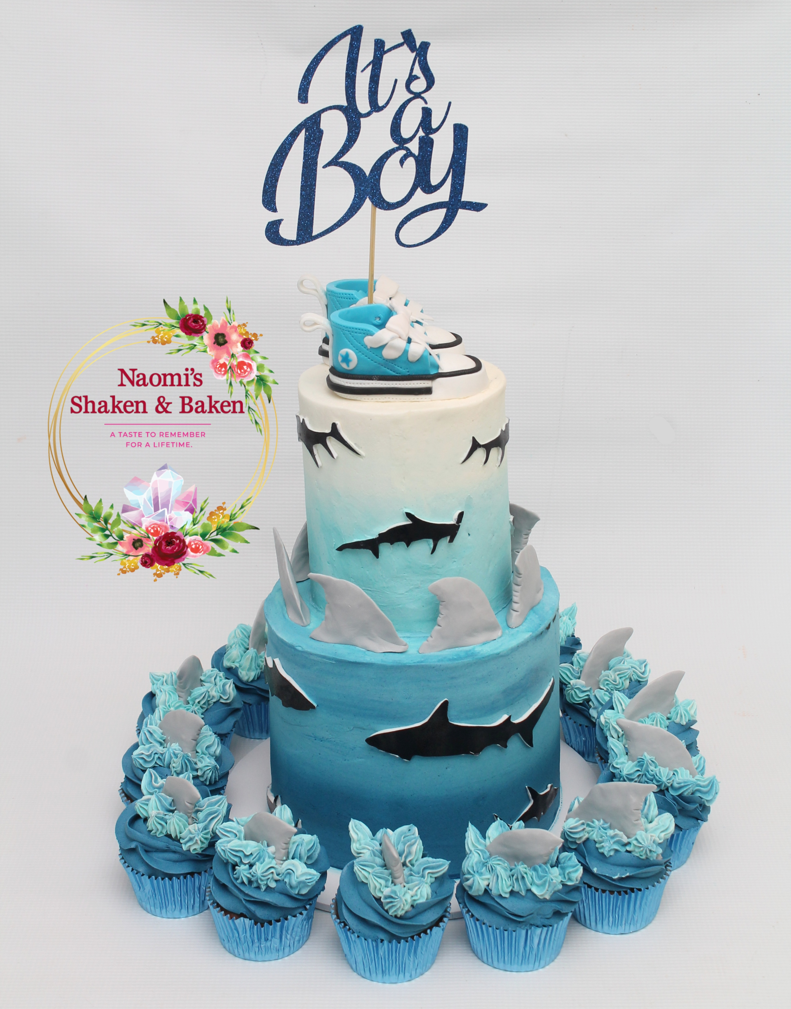 Shark themed baby shower Morayfield Caboolture