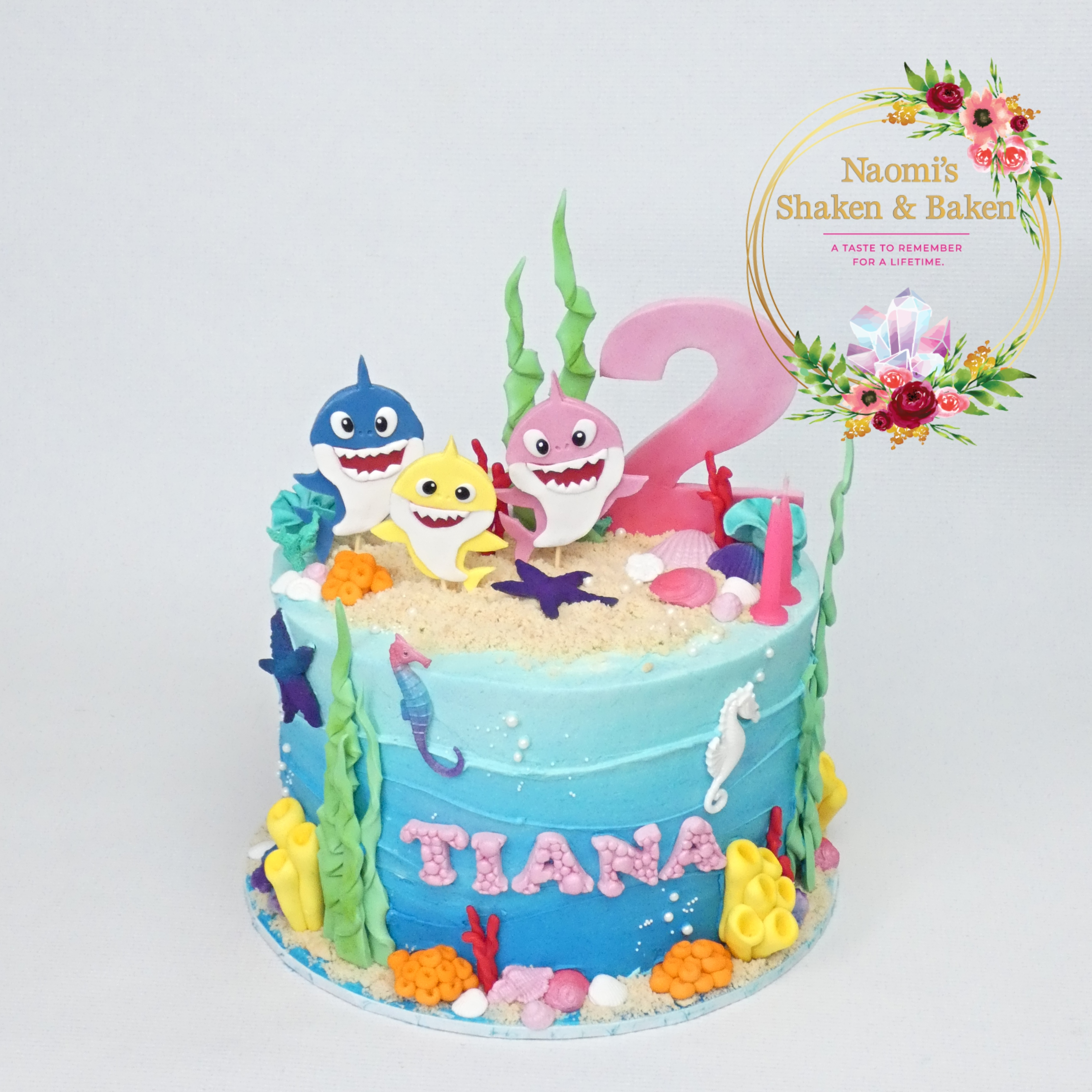 Baby Shark Themed Cake Caboolture