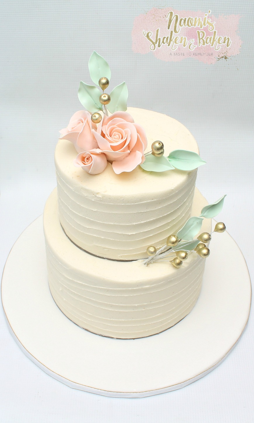 Ribbon Buttercream Wedding Cake